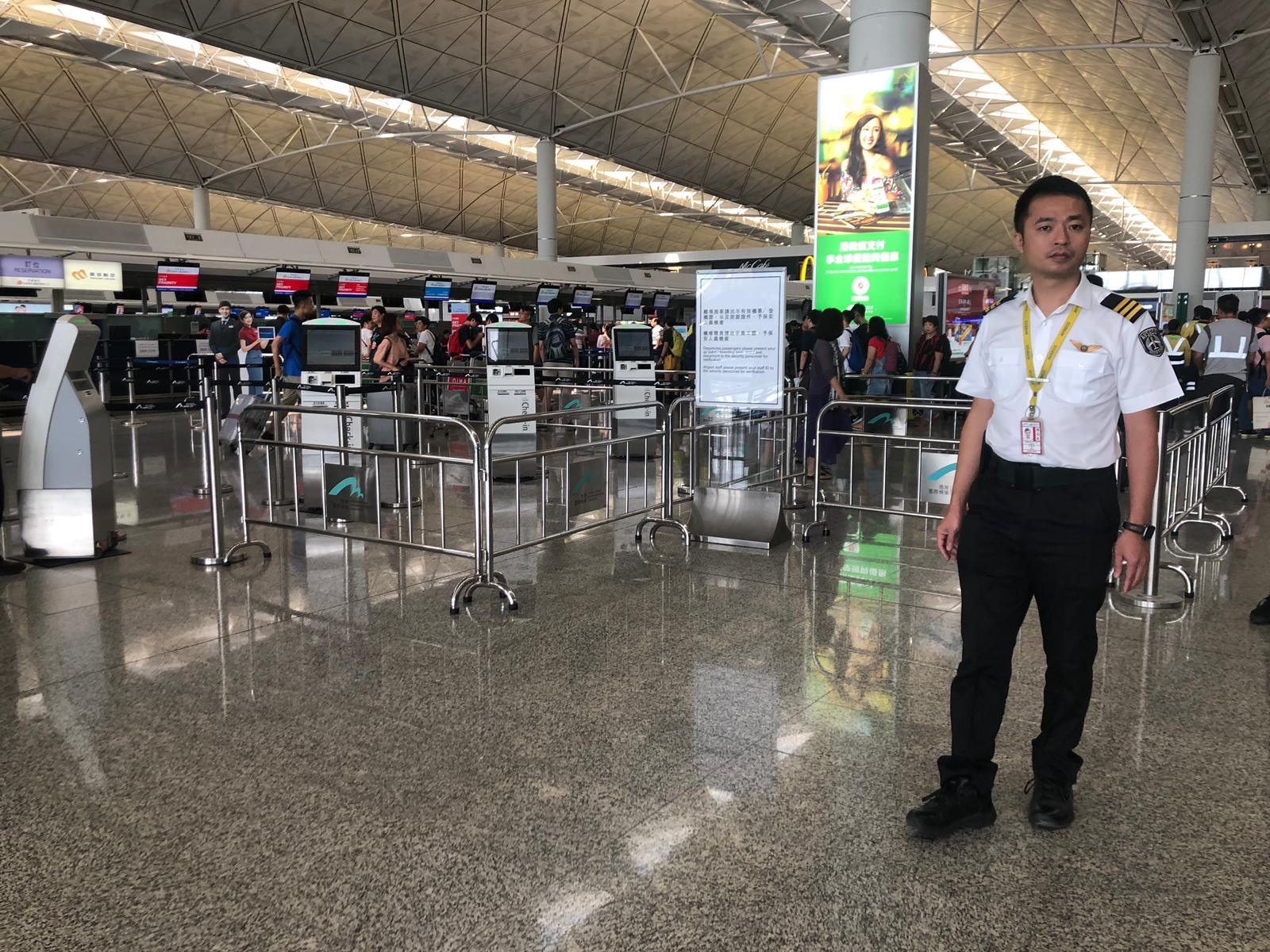 Hong Kong's international airport has extra security measures in place after last night's protests.