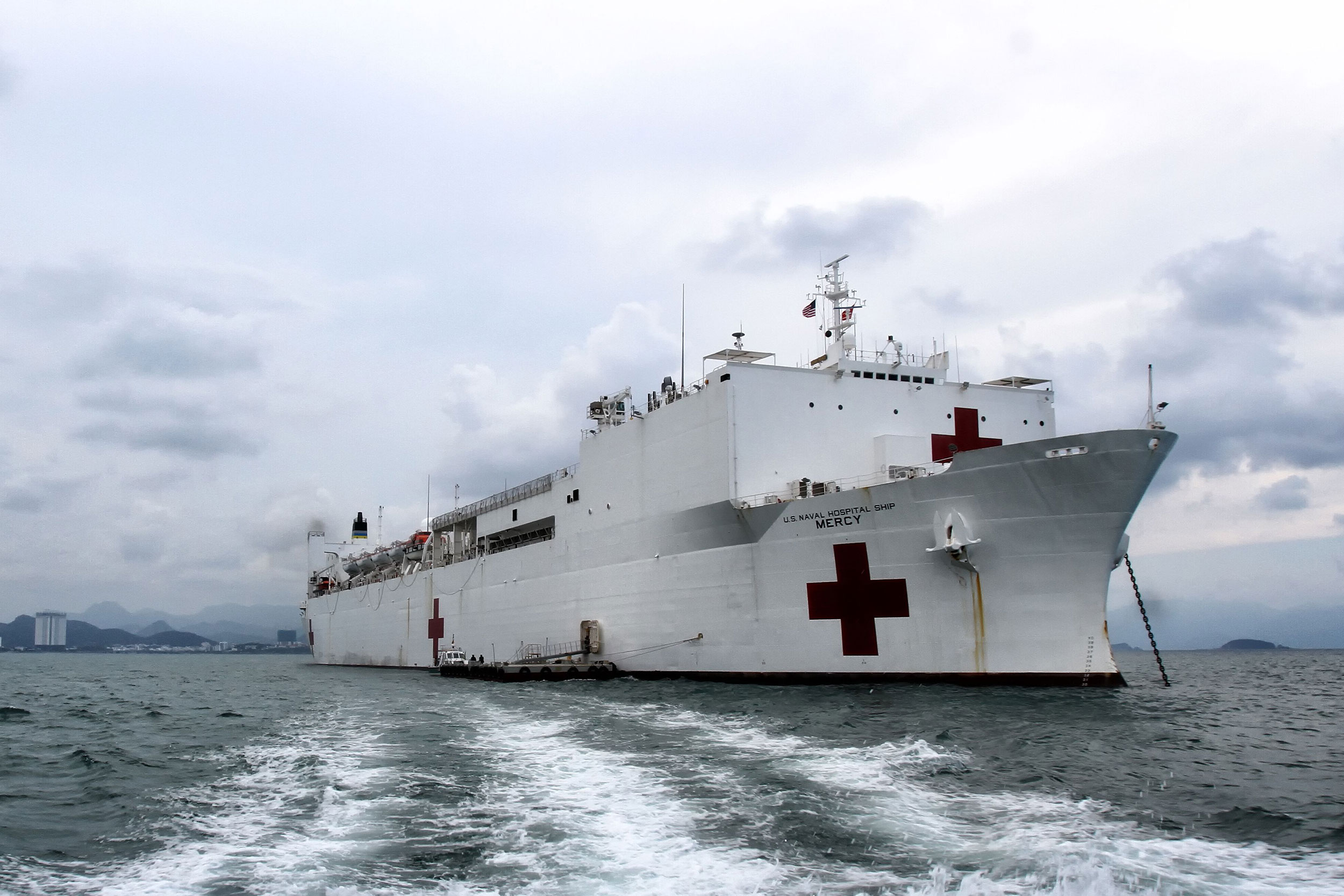 US Navy hospital ship USNS Mercy in central Vietnam in 2018.