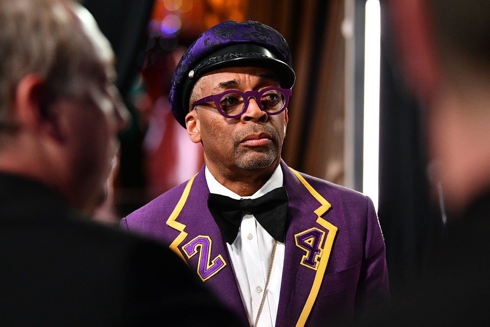Spike Lee stands backstage during the 92nd Annual Academy Awards at the Dolby Theatre on February 9 in Hollywood.