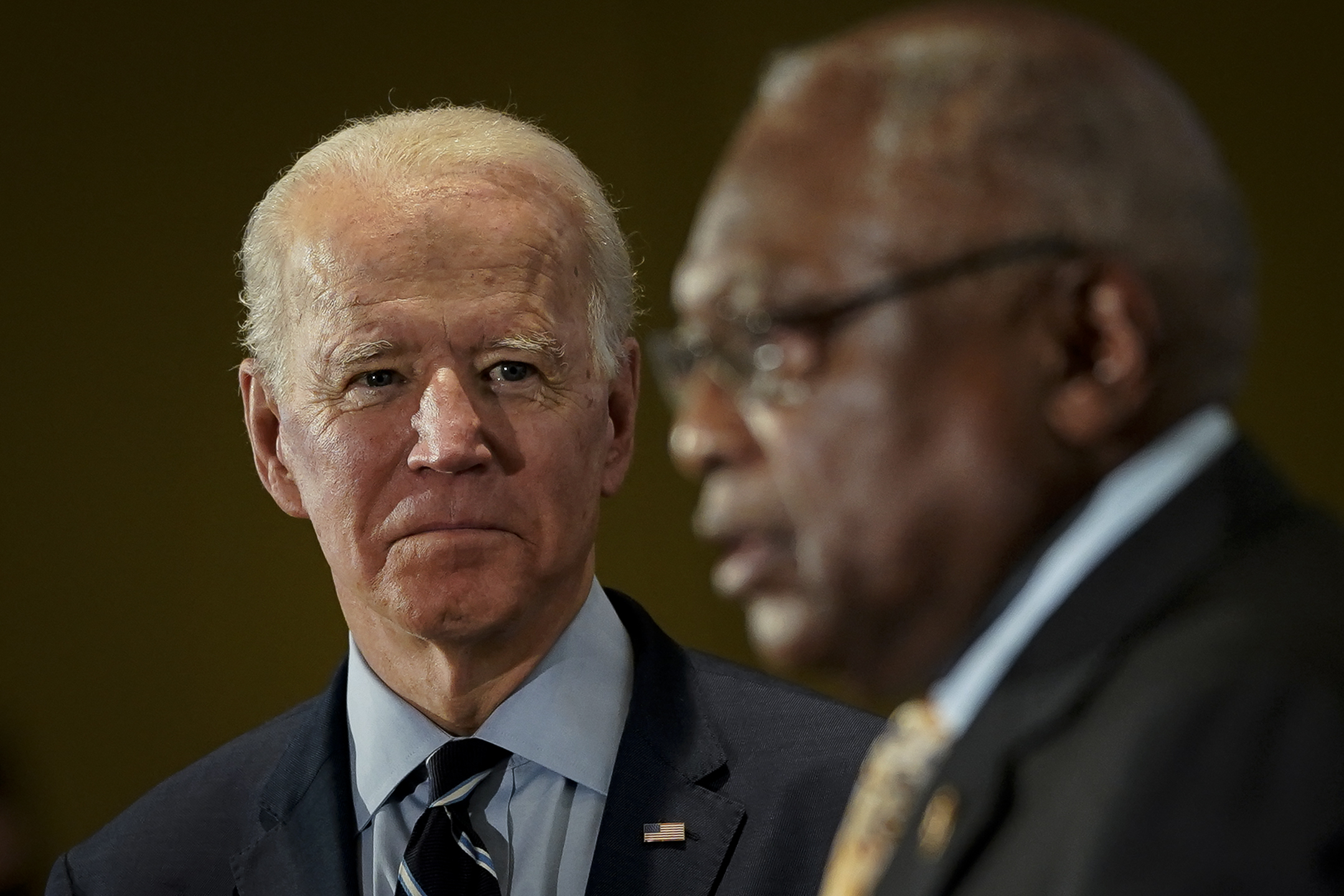 South Carolina Rep. James Clyburn endorses Joe Biden in February. He will lead the President-elect's inaugural committee.