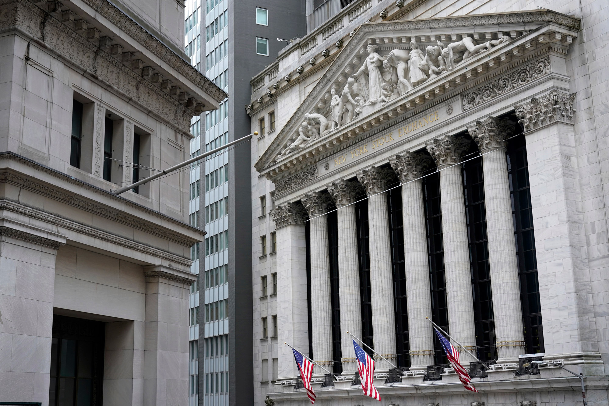 The New York Stock Exchange is seen in New York on November 23.