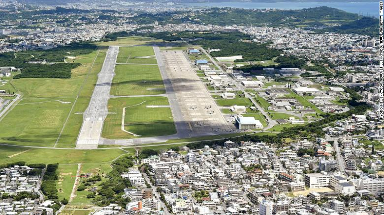The US Marine Corps Air Station Futenma in Ginowan in Japan's southern island prefecture of Okinawa.