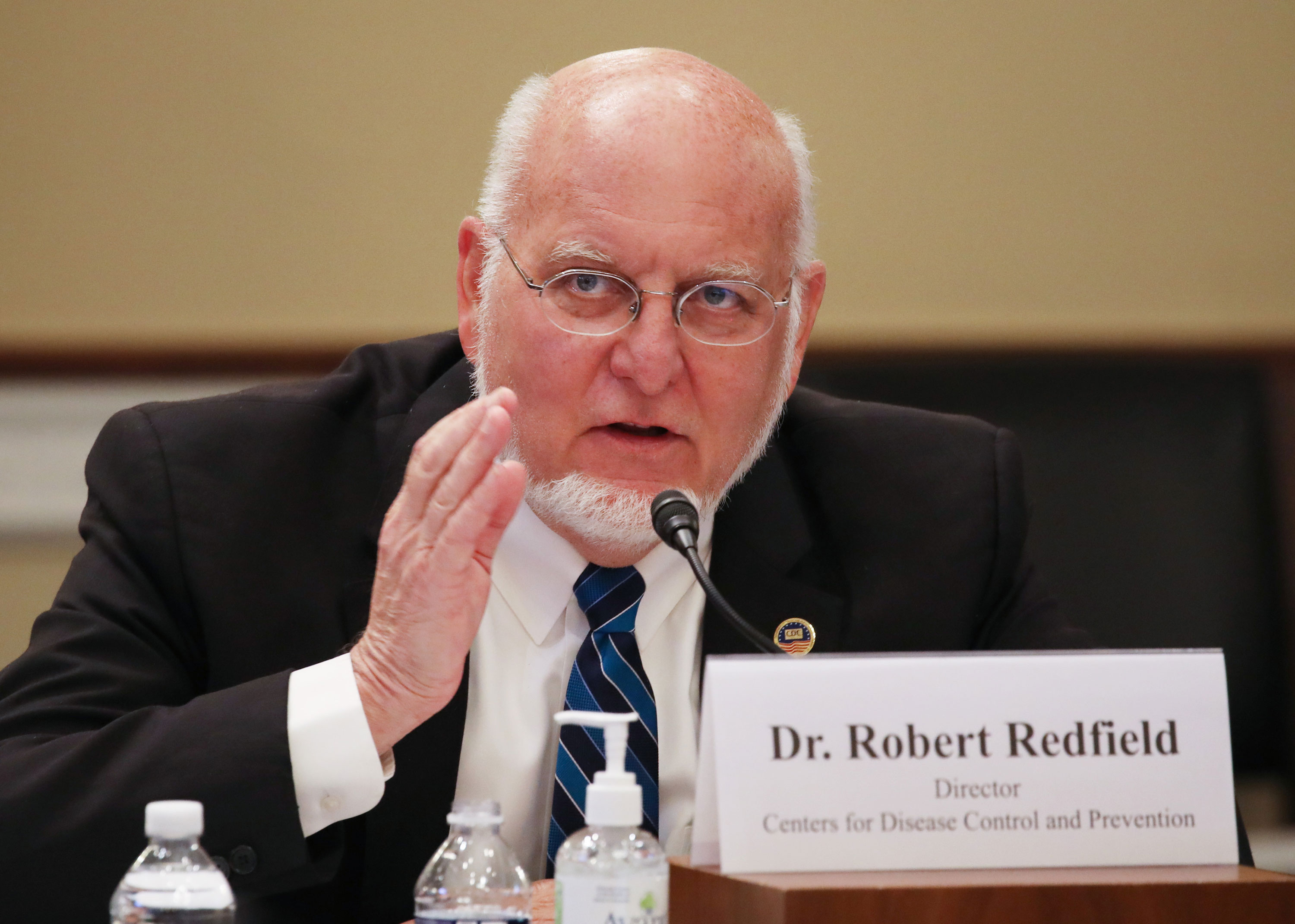 "Director of the Centers for Disease Control and Prevention Robert Redfield testifies before the Labor, Health and Human Services, Education and Related Agencies Subcommittee hearing on ""COVID-19 Response on Capitol Hill in Washington on June 4."