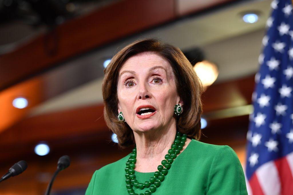 House Speaker Nancy Pelosi speaks to the media on Thursday in Washington, DC.