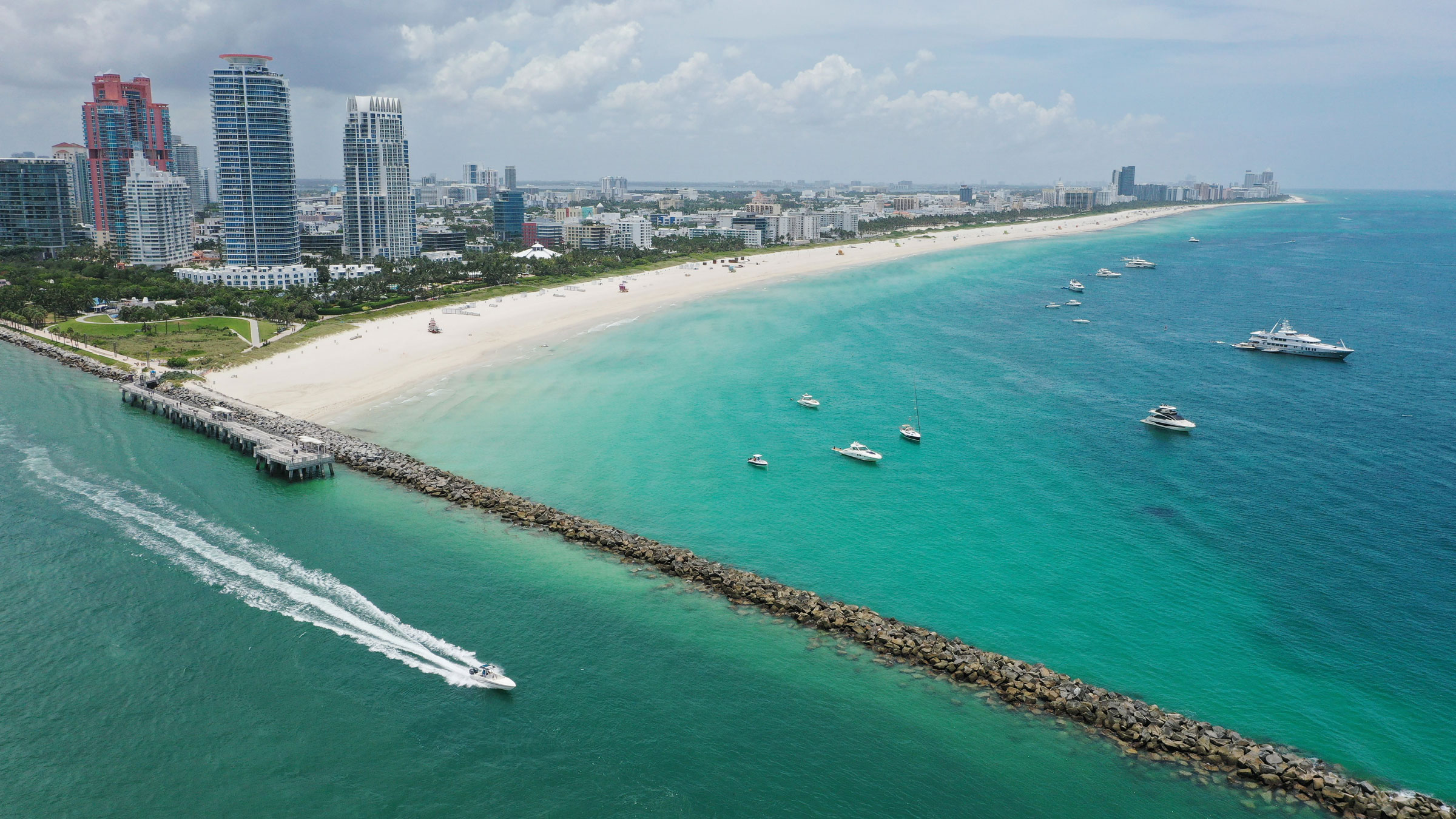 A view of Miami Beach, Florida, on July 4.
