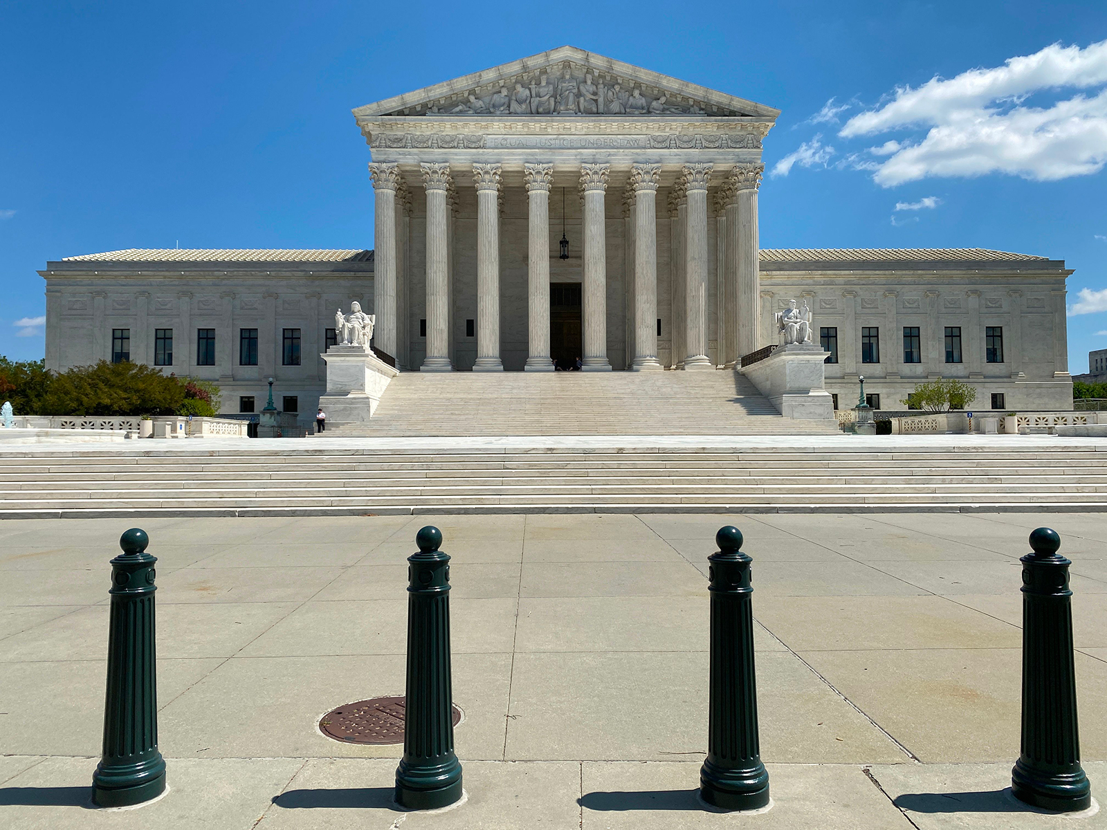 The US Supreme Court is seen amid the coronavirus pandemic on April 15, in Washington, DC.