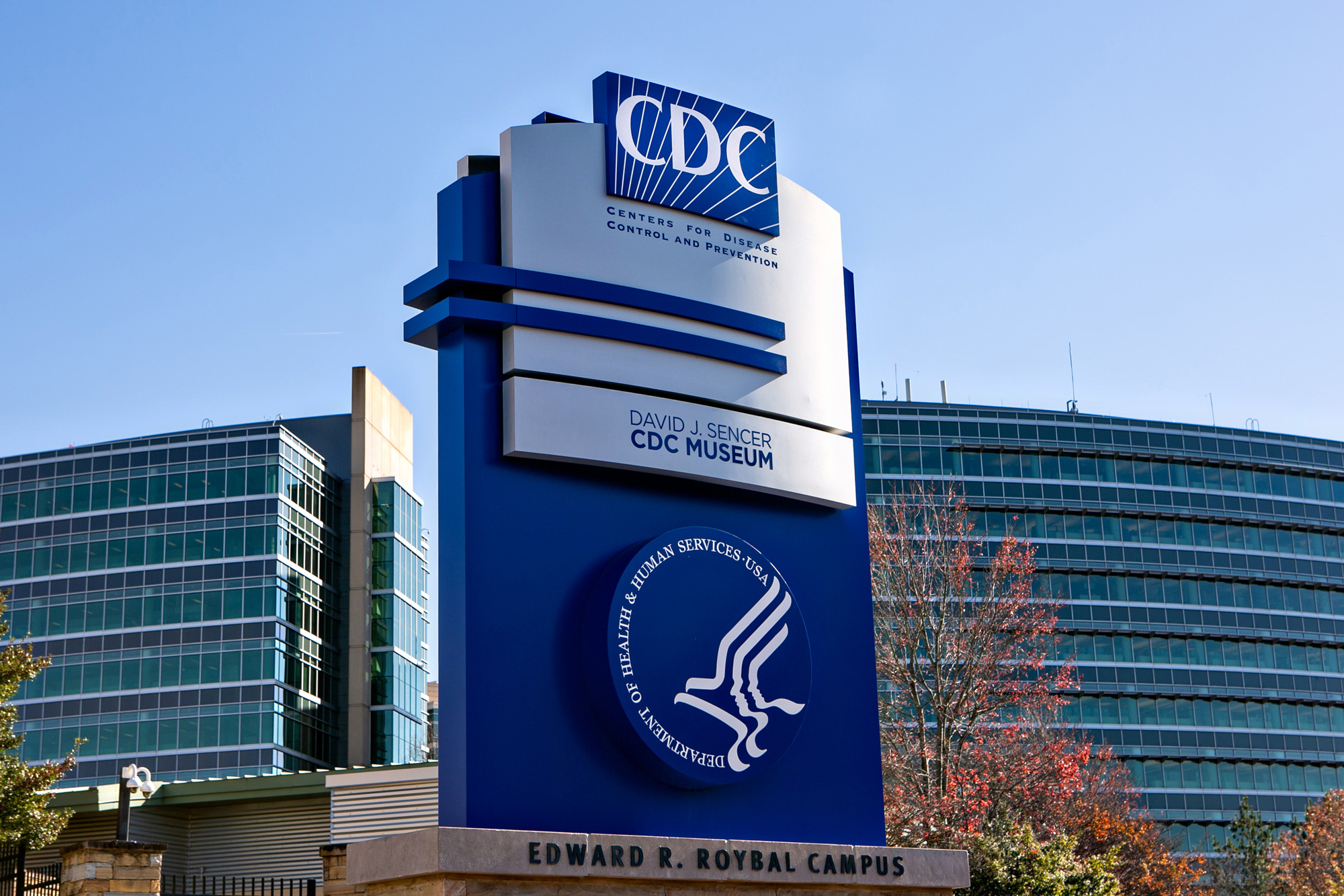 The Centers for Disease Control and Prevention is seen in Atlanta on December 10, 2020.