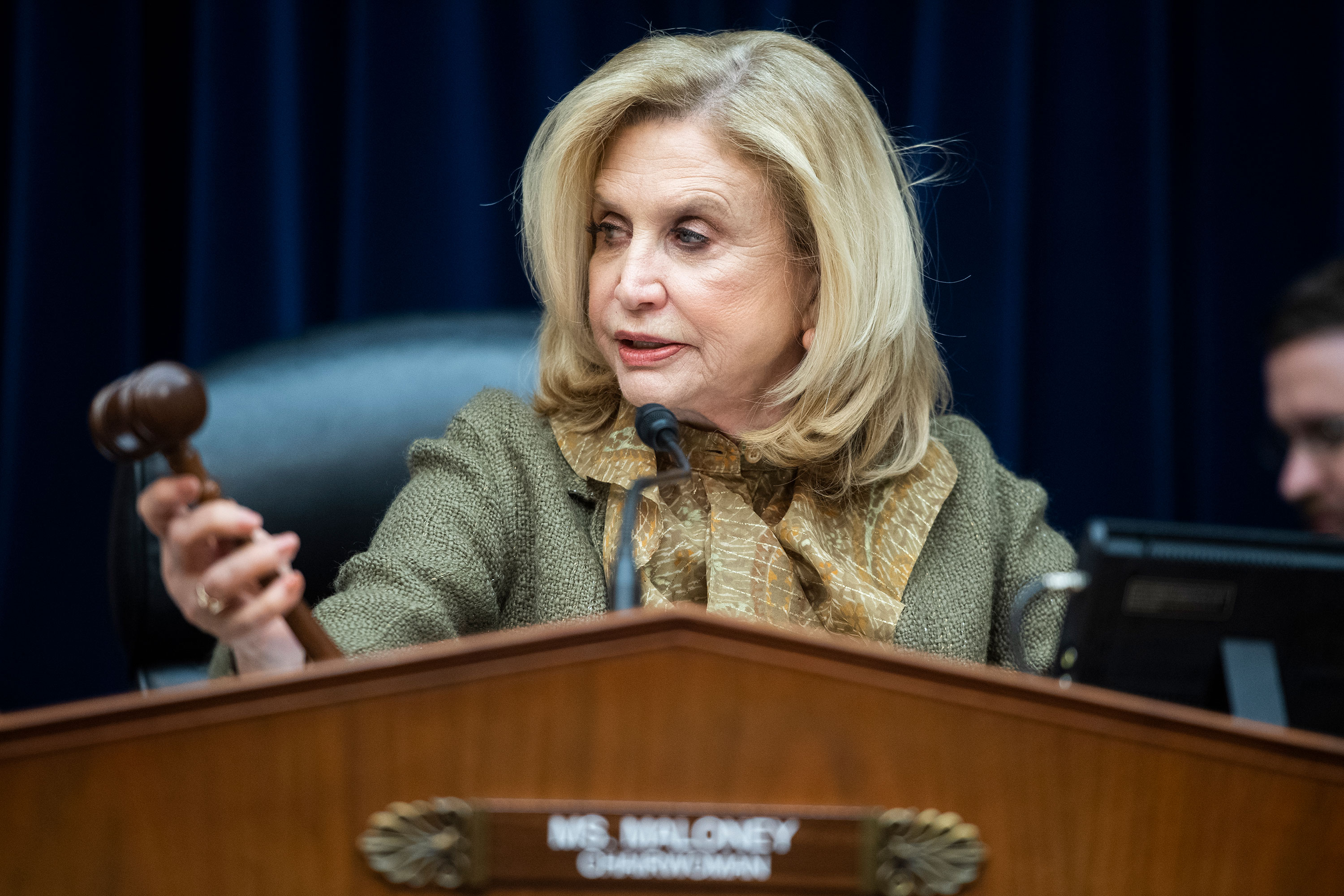 Rep. Carolyn Maloney at a hearing on March 12.
