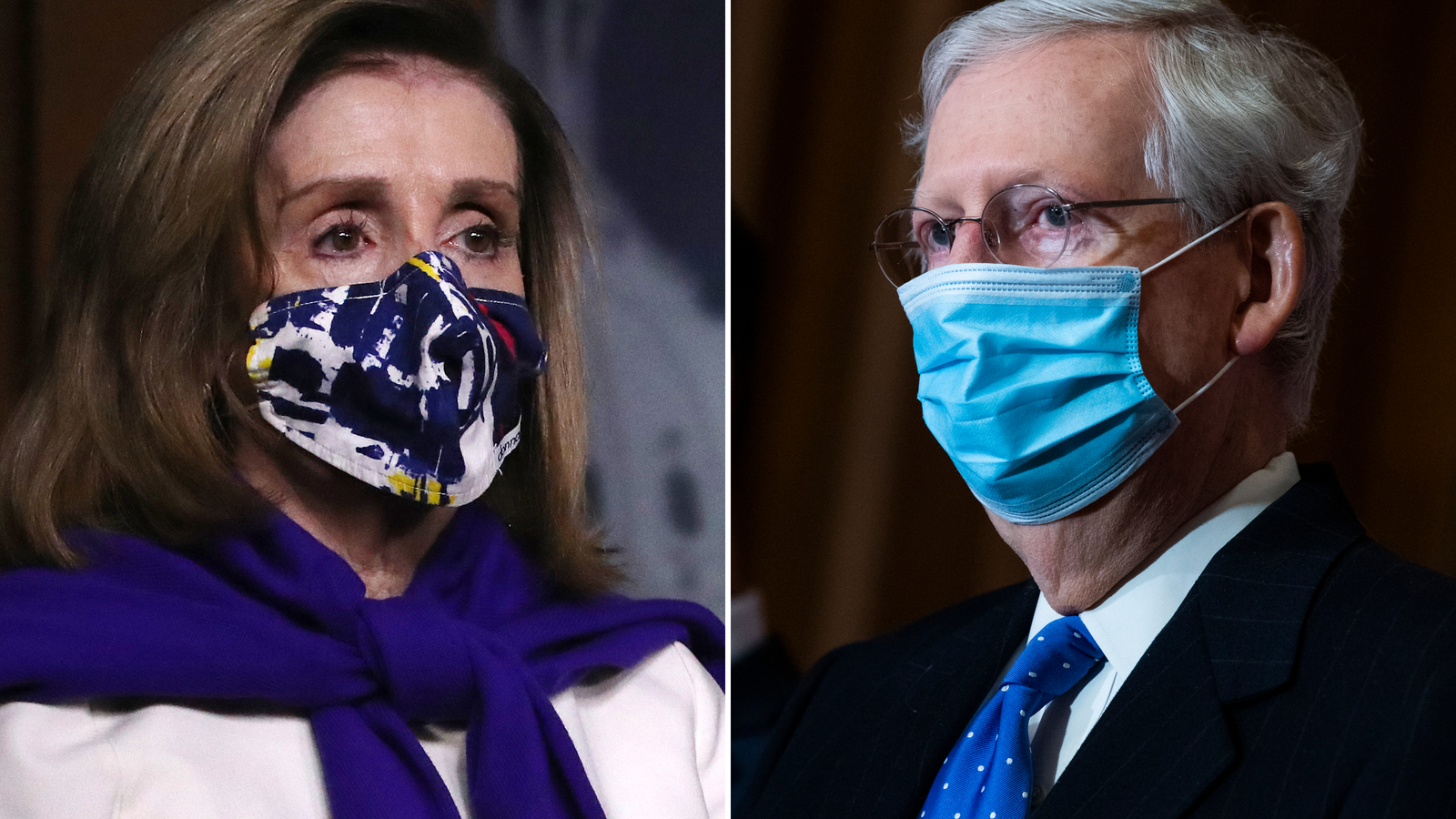House Speaker Nancy Pelosi, left, and Senate Majority Leader Mitch McConnell.