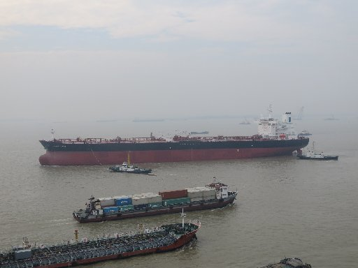 A file photograph of the Front Altair, an oil tanker struck by an explosion followed by a fire in the Gulf of Oman on Thursday.