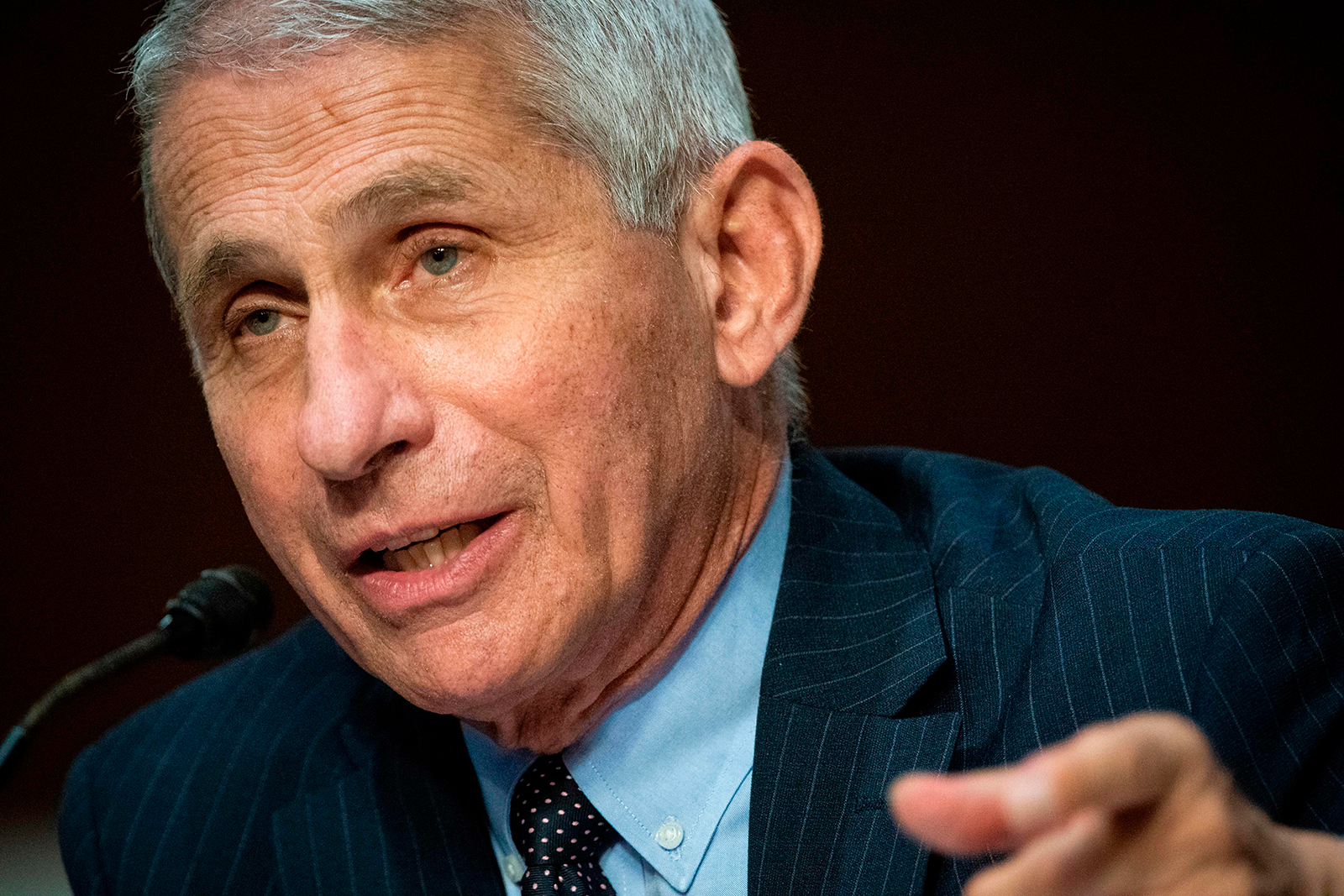 Anthony Fauci, director of the National Institute of Allergy and Infectious Diseases, speaks during a Senate hearing in Washington, DC, on June 30.