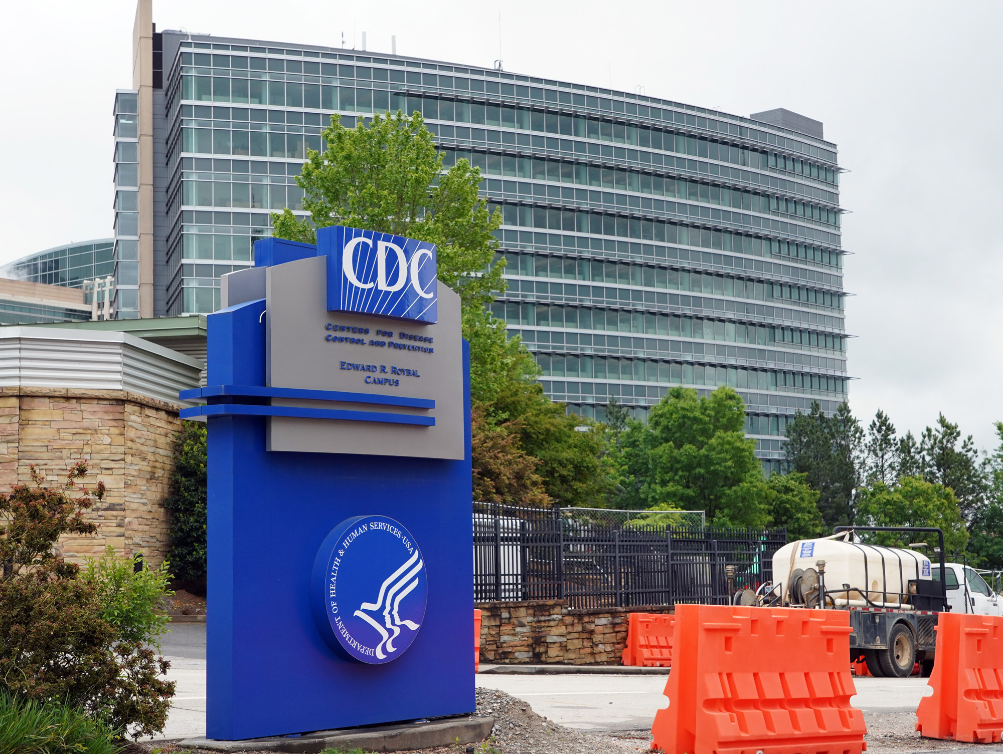 A general view of the Centers for Disease Control and Prevention Edward R. Roybal campus is seen in Atlanta on April 23.