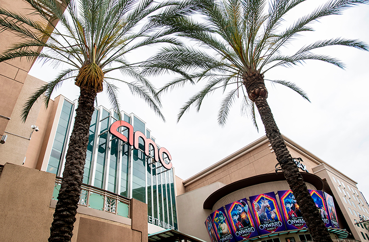 Outside view of the closed AMC Theater, amid the coronavirus pandemic, May 12, 2020, in Burbank, California.