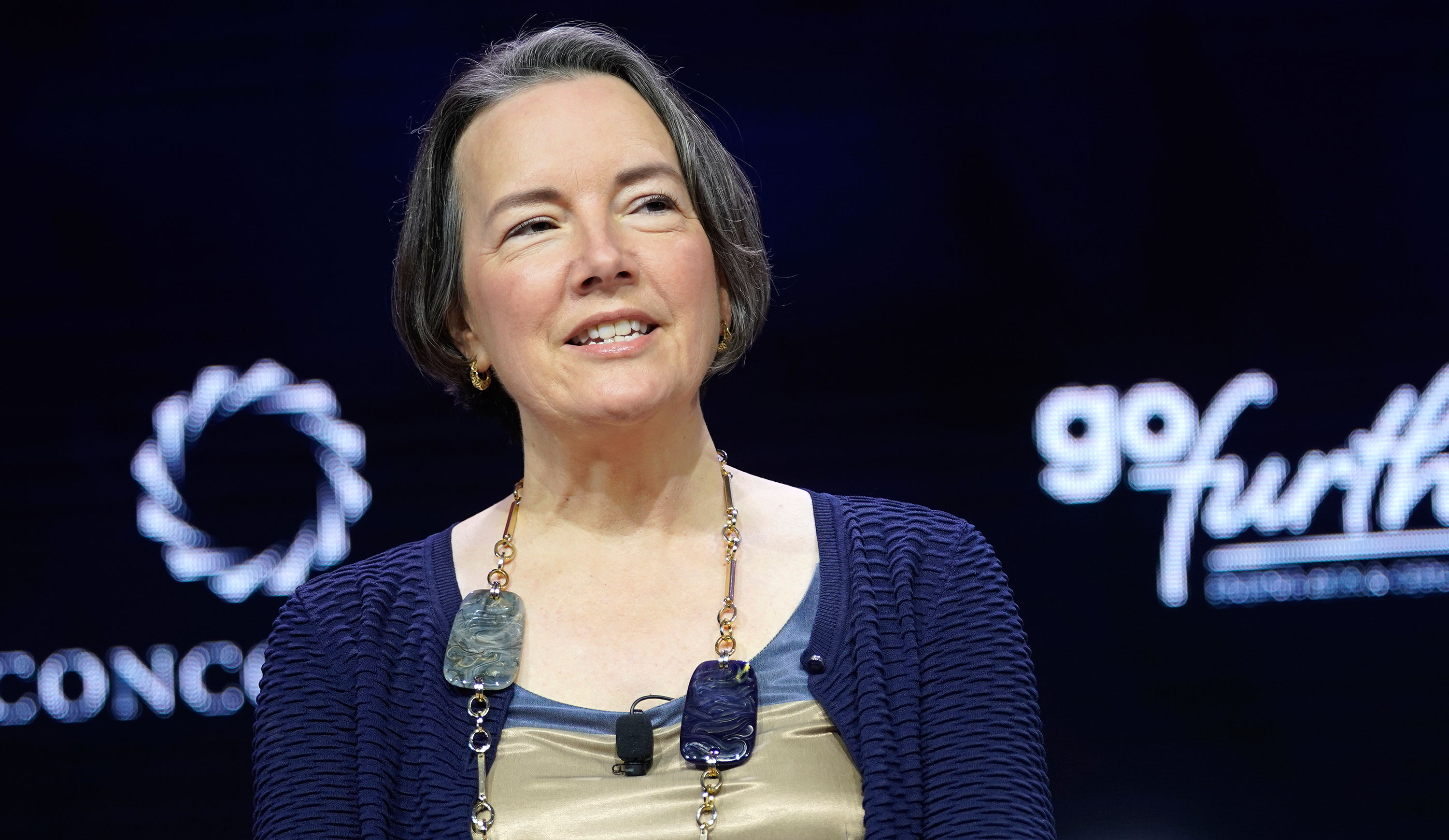 Kathleen McLaughlin, executive vice president and chief sustainability officer for Walmart and president of the Walmart Foundation, speaks onstage during the 2019 Concordia Annual Summit on September 23, 2019 in New York City.