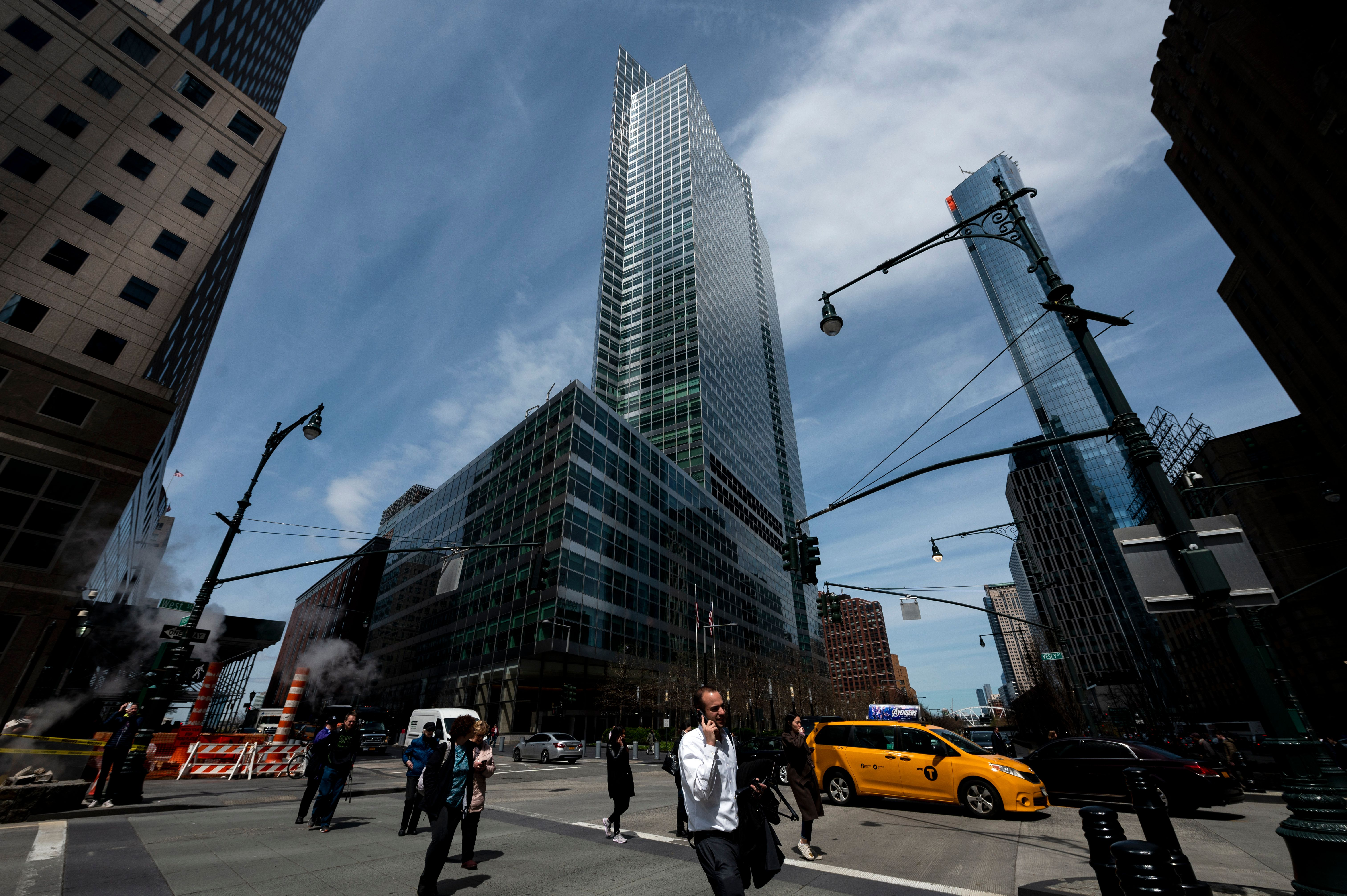 The headquarters of Goldman Sachs is pictured on April 17, 2019 in New York City.