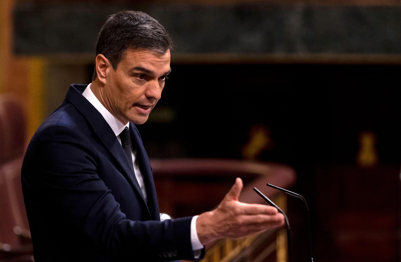 Spanish Prime Minister Pedro Sánchez speaks at parliament on June 3 in Madrid, Spain.