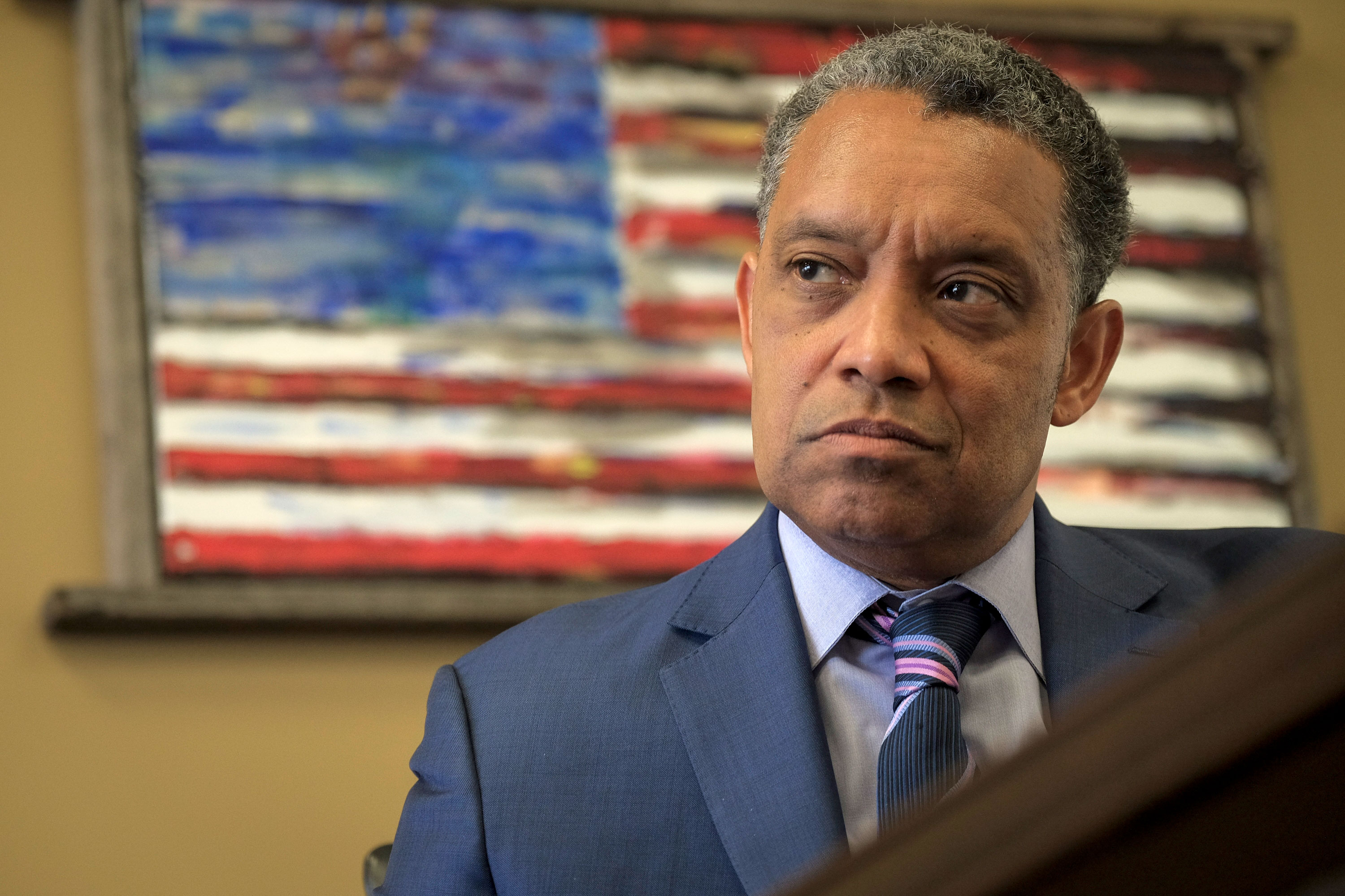 DC Attorney General Karl Racine is interviewed in his office at One Judiciary Square on March 7, 2019.