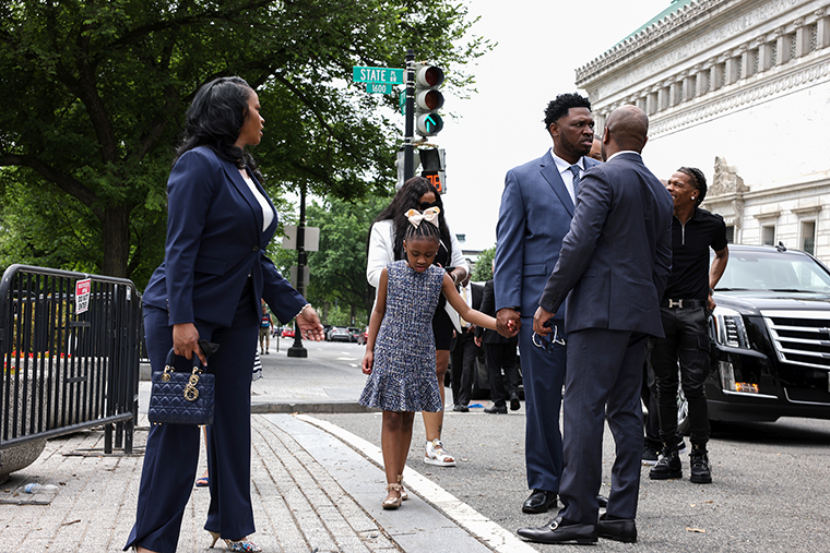 Gianna Floyd, George Floyd's daughter, arrives to the White House on May 25th,  in Washington, DC. George Floyd's family are having a meeting with U.S. President Joe Biden at the White House to mark the first anniversary of his death.