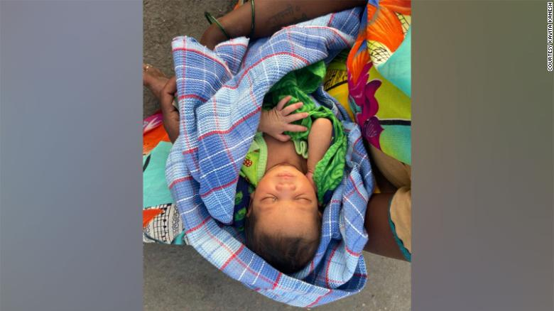 The baby girl was born on May 5 with India under nationwide lockdown measures to curb the spread of Covid-19.