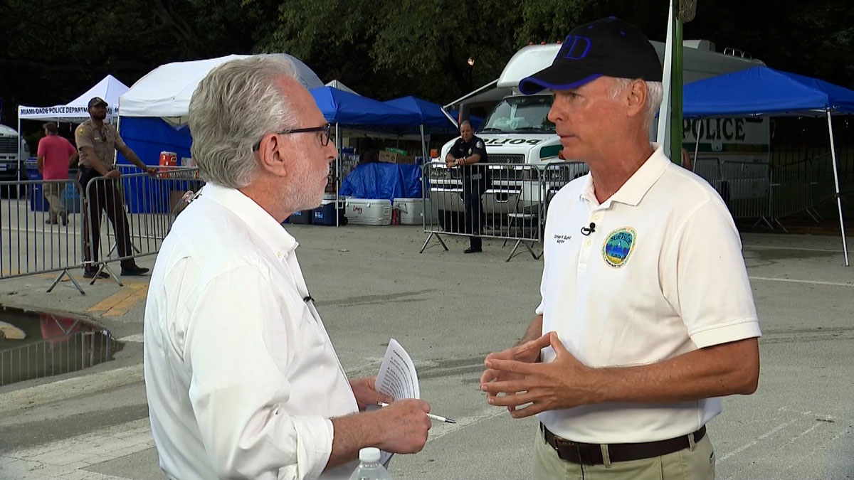 CNN's Wolf Blitzer with Surfside Mayor Charles Burkett