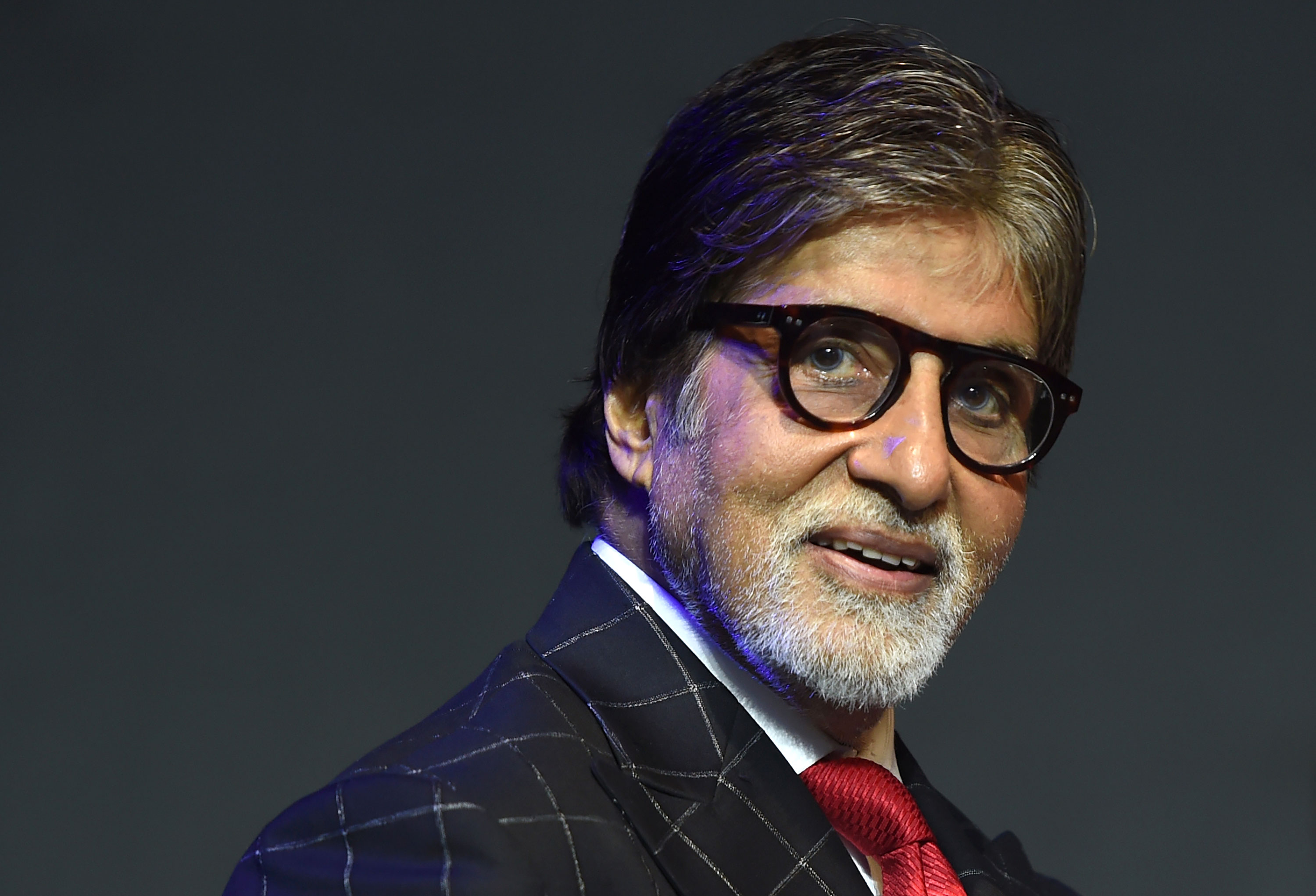 Bollywood actor Amitabh Bachchan attends a commercial event in Mumbai, India, in 2018.