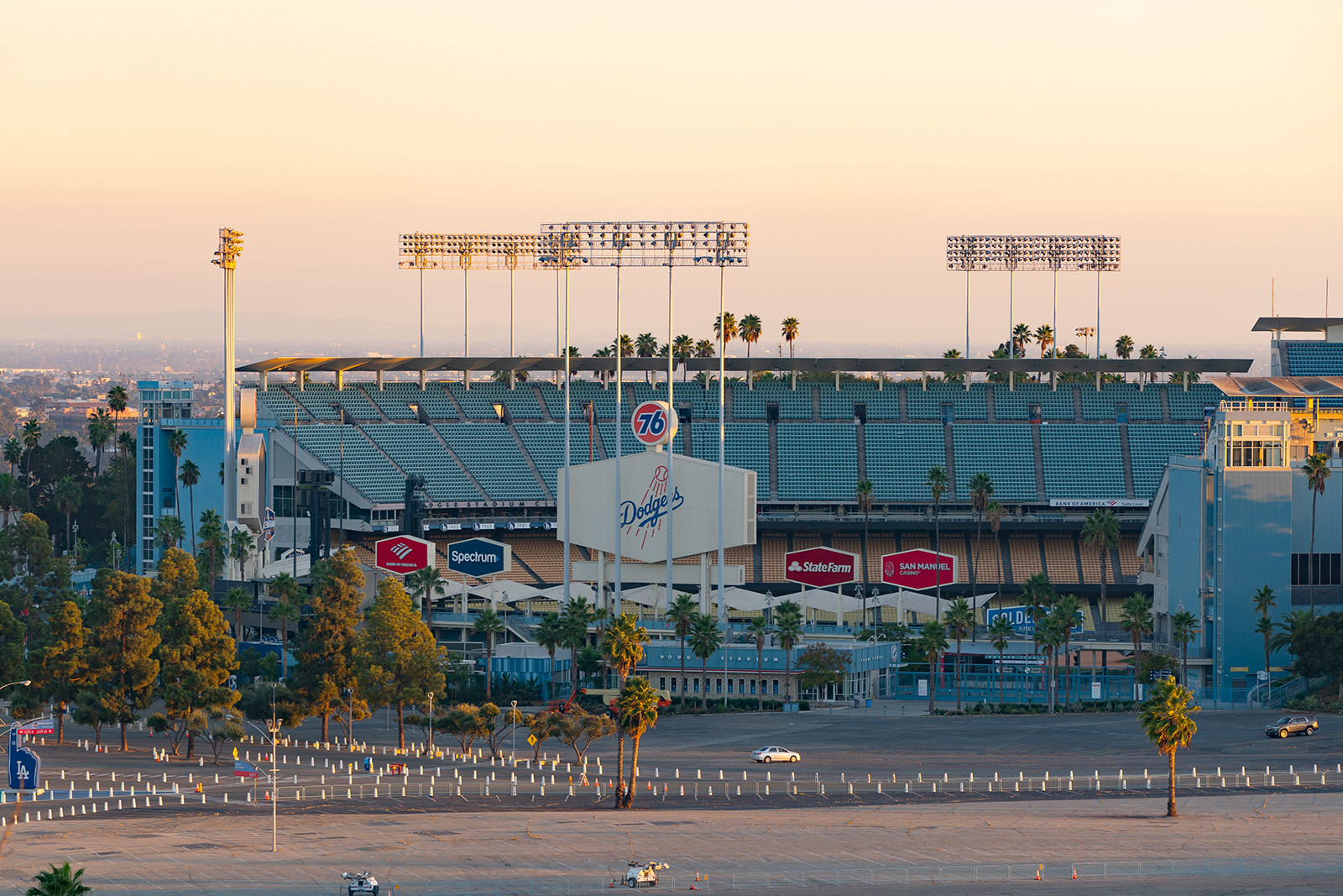 A general view of Dodger Stadium is seen in Los Angeles, on November 18, 2020.