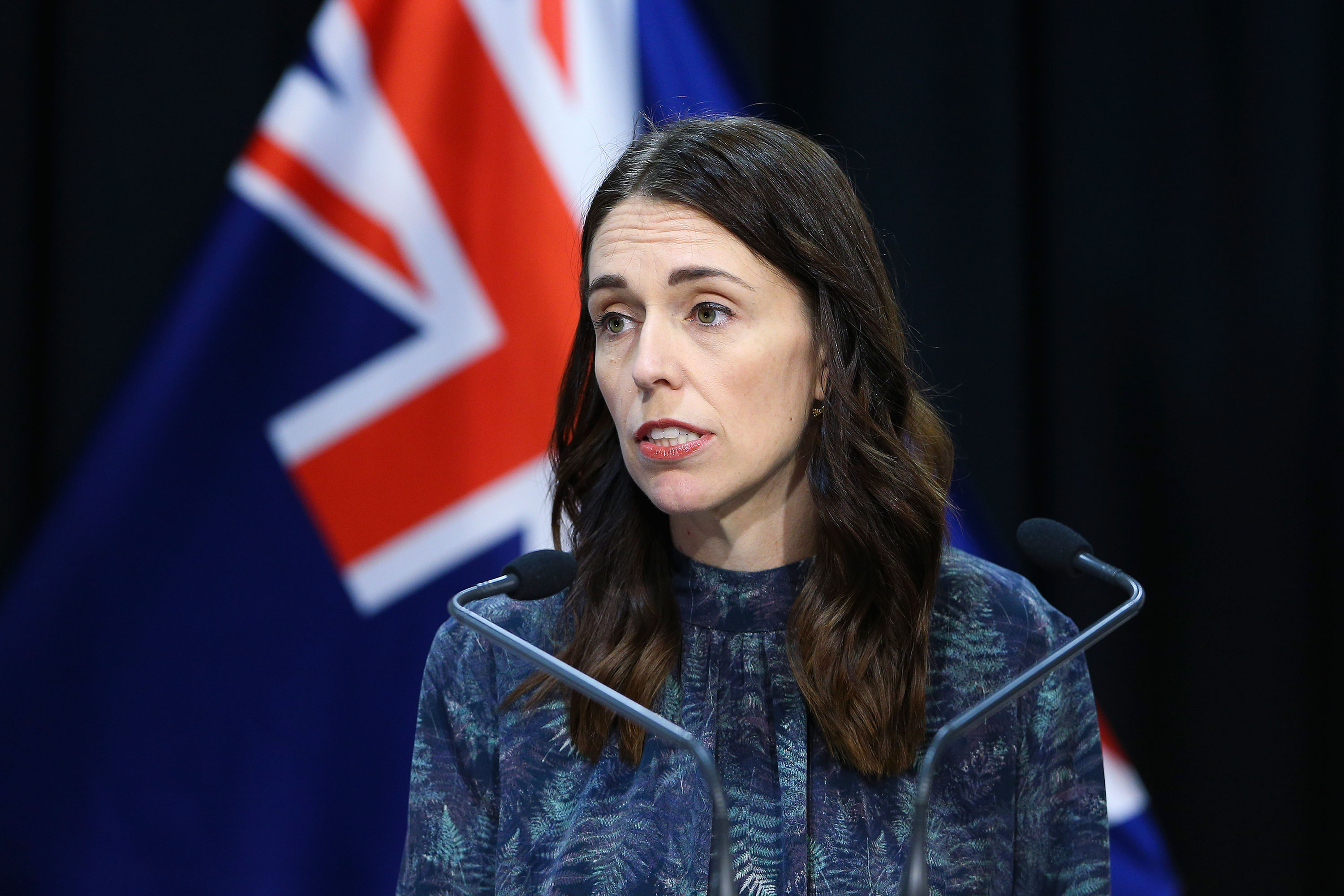 New Zealand Prime Minister Jacinda Ardern speaks at a news conference on April 19, in Wellington, New Zealand.