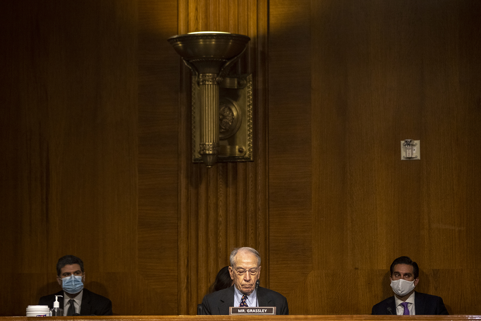 Sen. Chuck Grassley attends a Senate Judiciary Committee hearing about the Crossfire Hurricane investigation on Capitol Hill on November 10 in Washington.