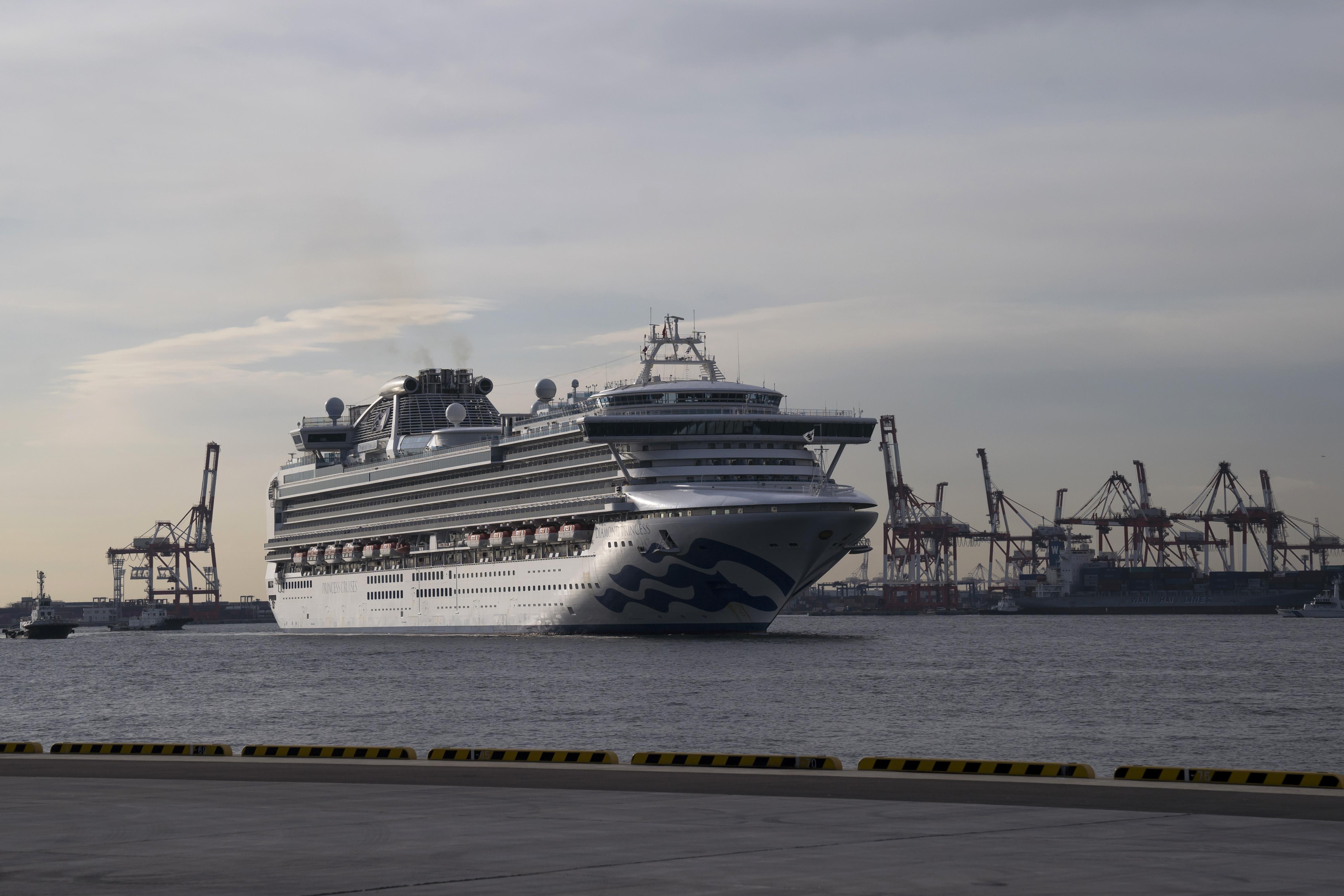 The Diamond Princess cruise ship on Wednesday in Yokohama, Japan.