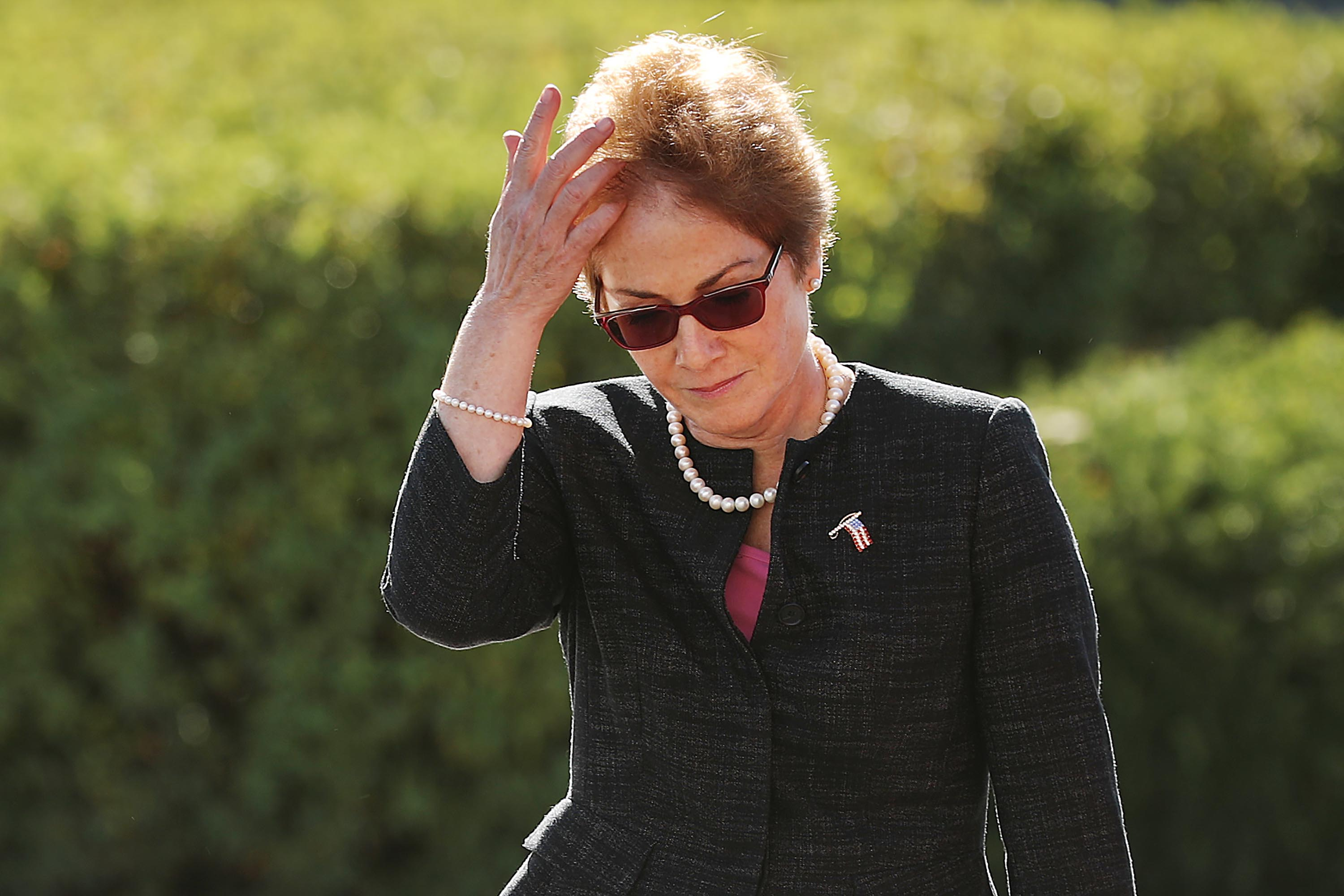 Marie Yovanovitch arrives at the US Capitol, October 11.