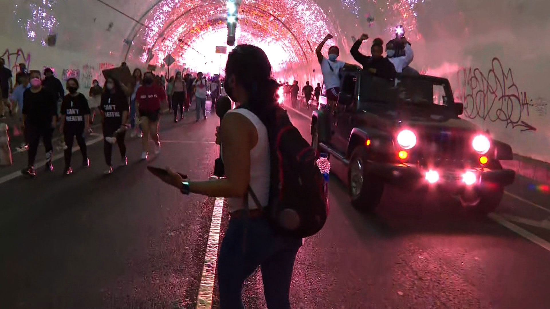 CNN's Kyung Lah reports from a protest on Thursday night in Los Angeles.