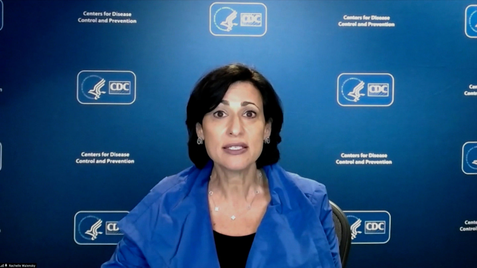 CDC Director Rochelle Walensky speaks during a White House coronavirus briefing on Wednesday, April 7.