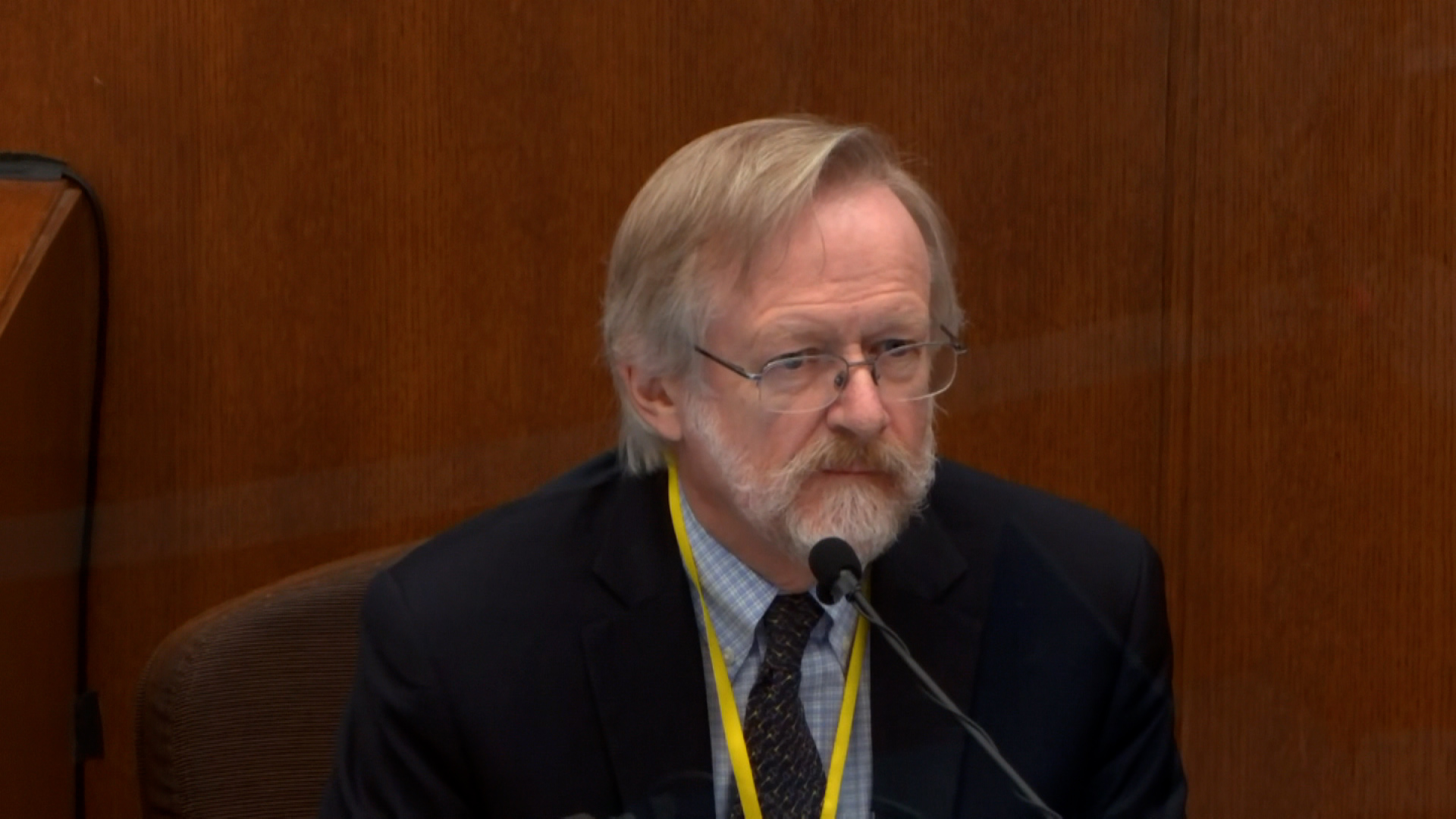 Dr. Martin Tobin testifies on Thursday, April 15.