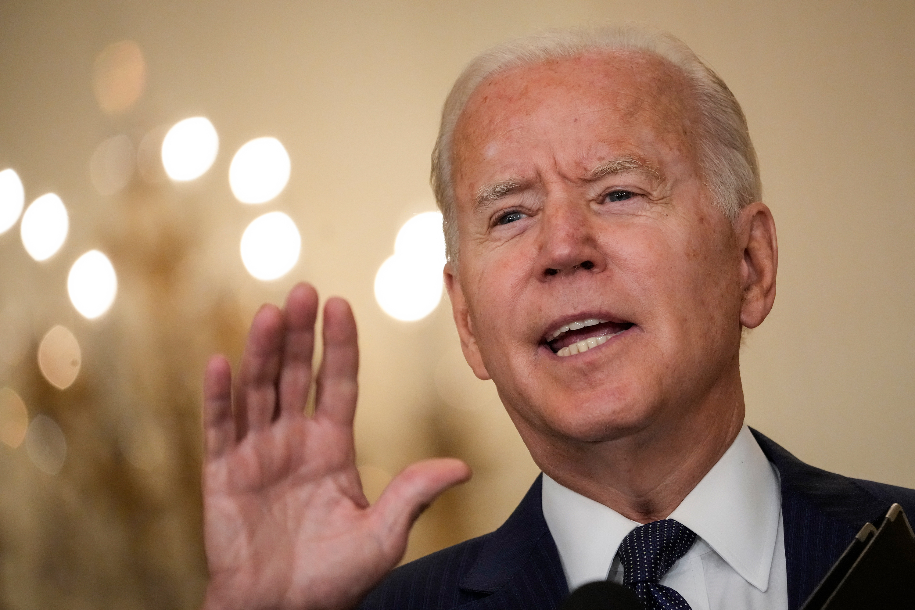 President Joe Biden delivers remarks on the terror attack at the Kabul International Airport, on Thursday, August 26.