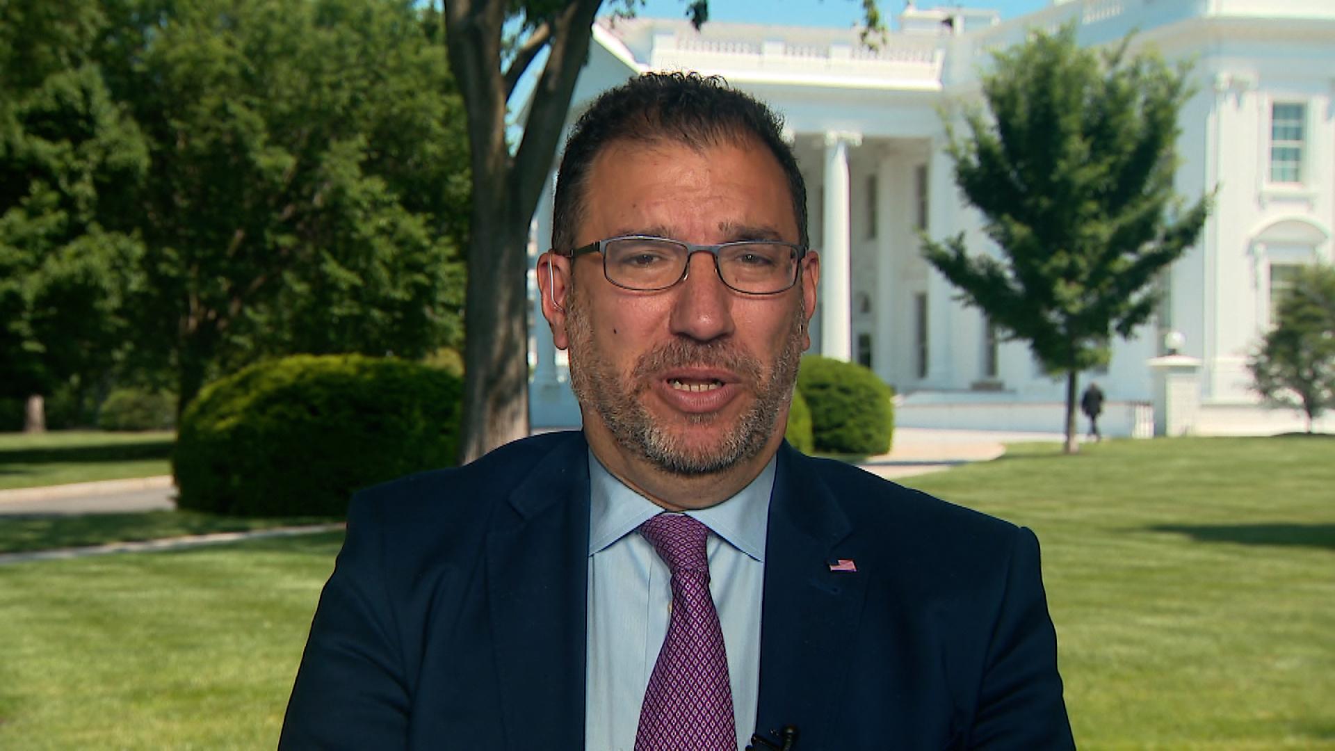 Andy Slavitt, the White House senior adviser on Covid-19 response, speaks during an interview on May 21.