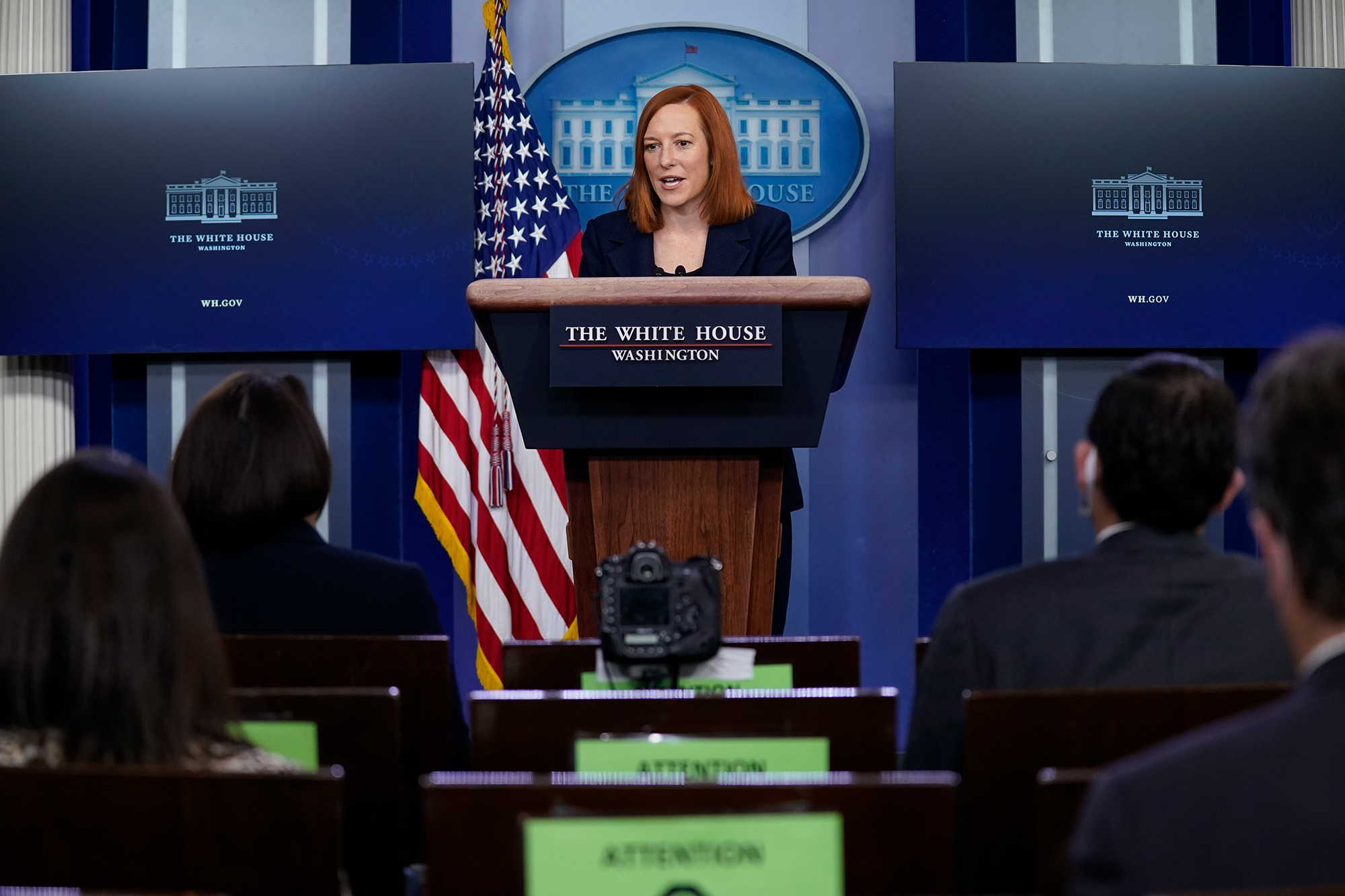 White House press secretary Jen Psaki speaks during a press briefing at the White House, Friday, Jan. 29, 2021, in Washington.