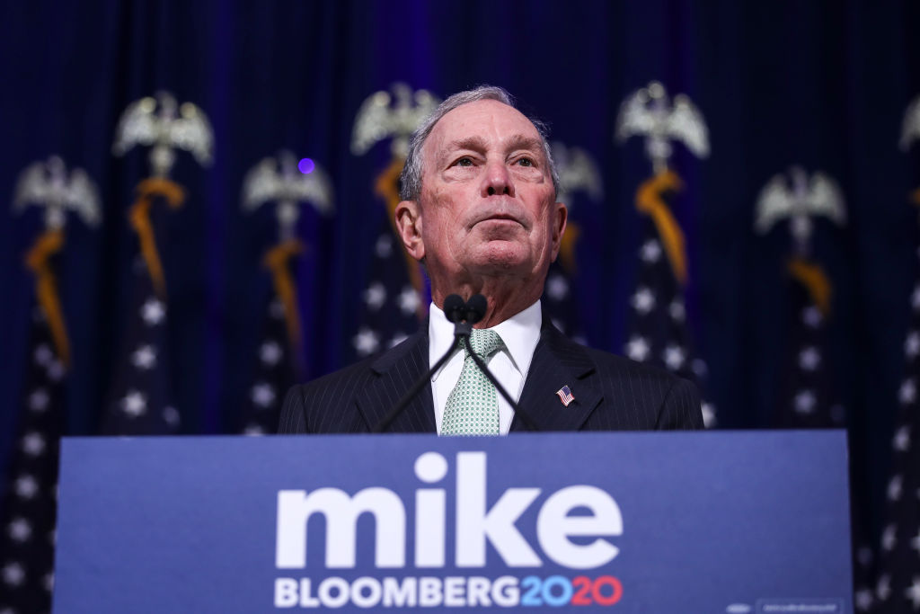 Newly announced Democratic presidential candidate, former New York Mayor Michael Bloomberg speaks during a press conference to discuss his presidential run on November 25 in Norfolk, Virginia.