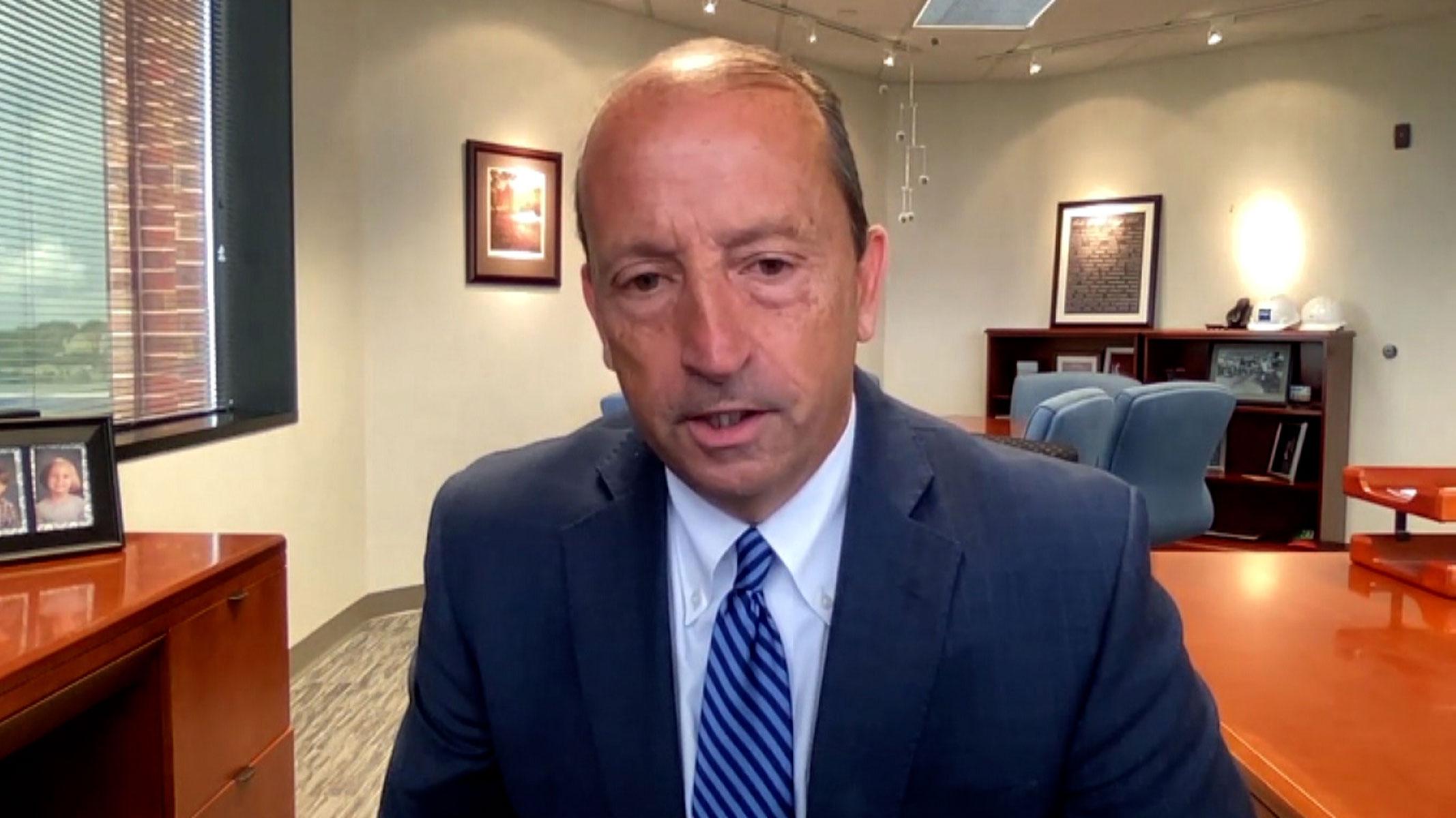 CoxHealth CEO Steve Edwards talks to CNN on Monday.