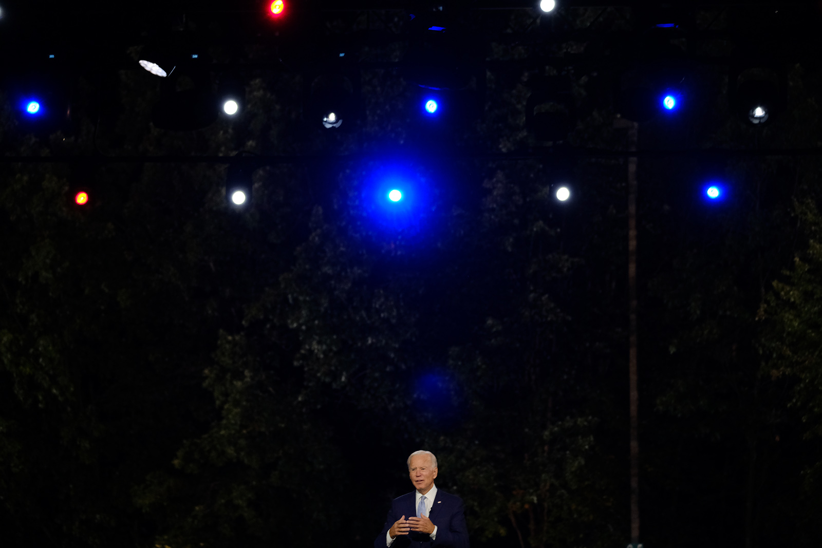 Democratic presidential nominee Joe Biden speaks at the CNN Presidential Town Hall in Scranton, Pennsylvania, on Thursday.