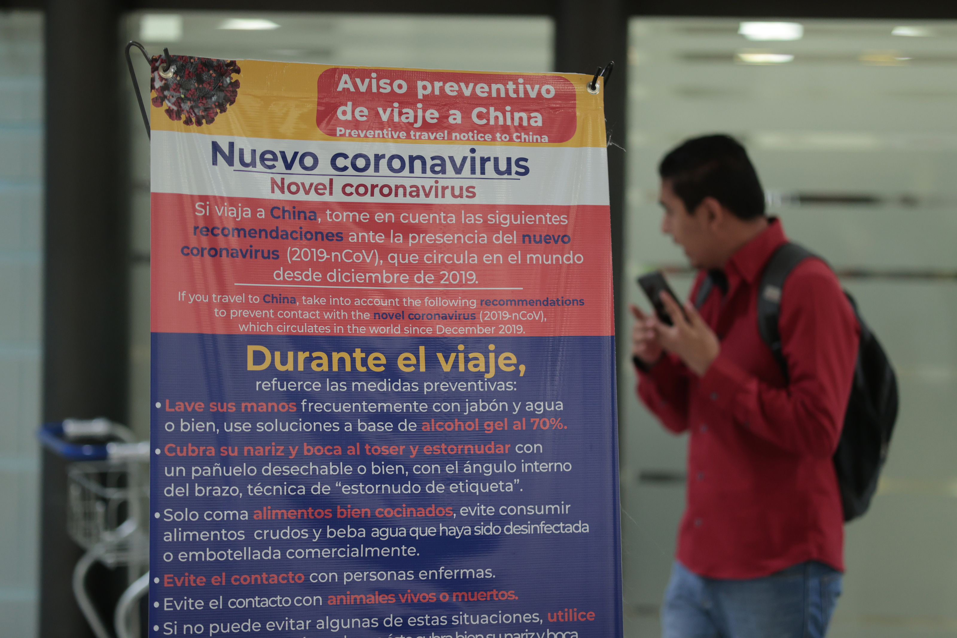 Health measures are in force at airports, ports and border crossings across Mexico.