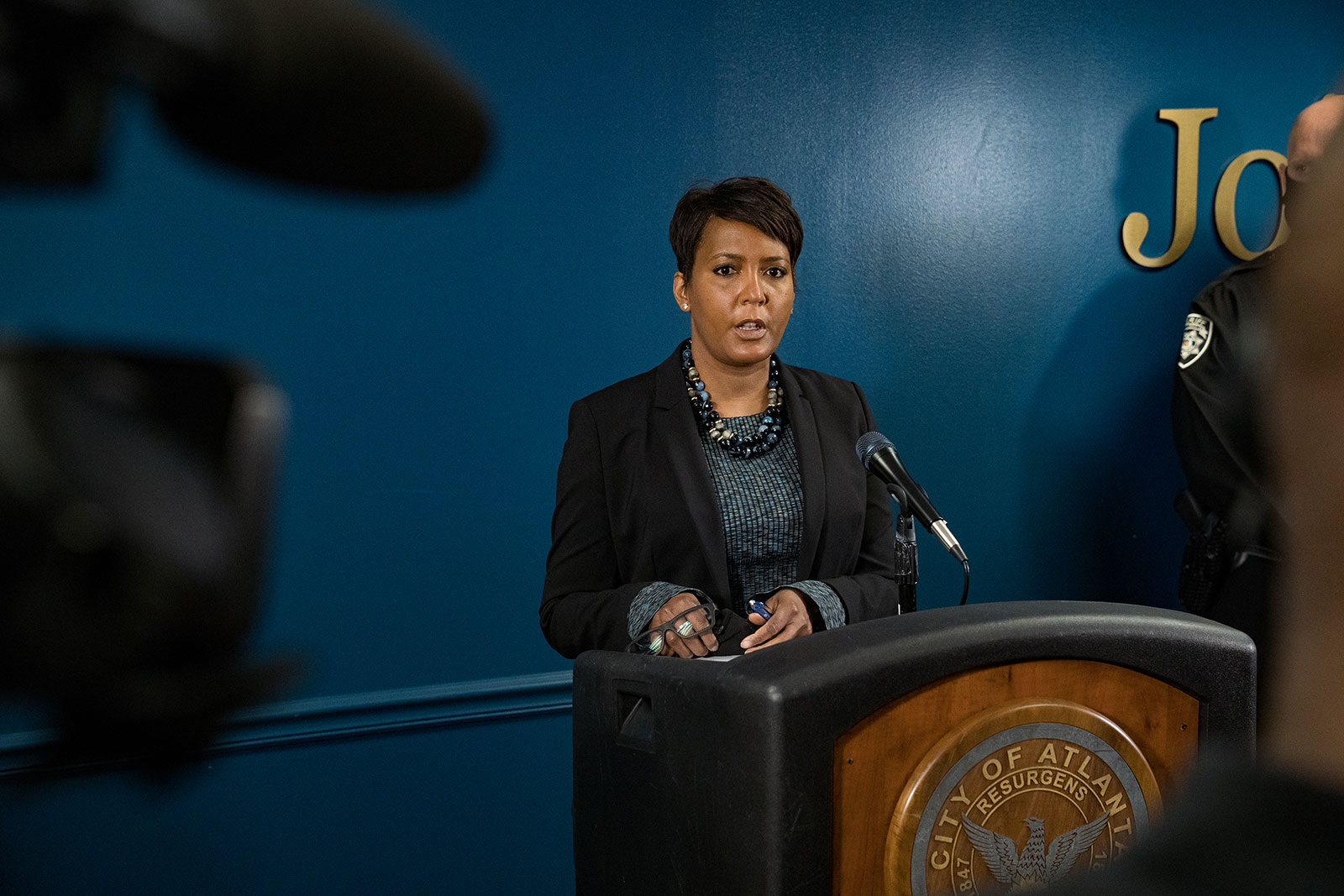 Atlanta Mayor Keisha Lance Bottoms speaks at a press conference on March 17.