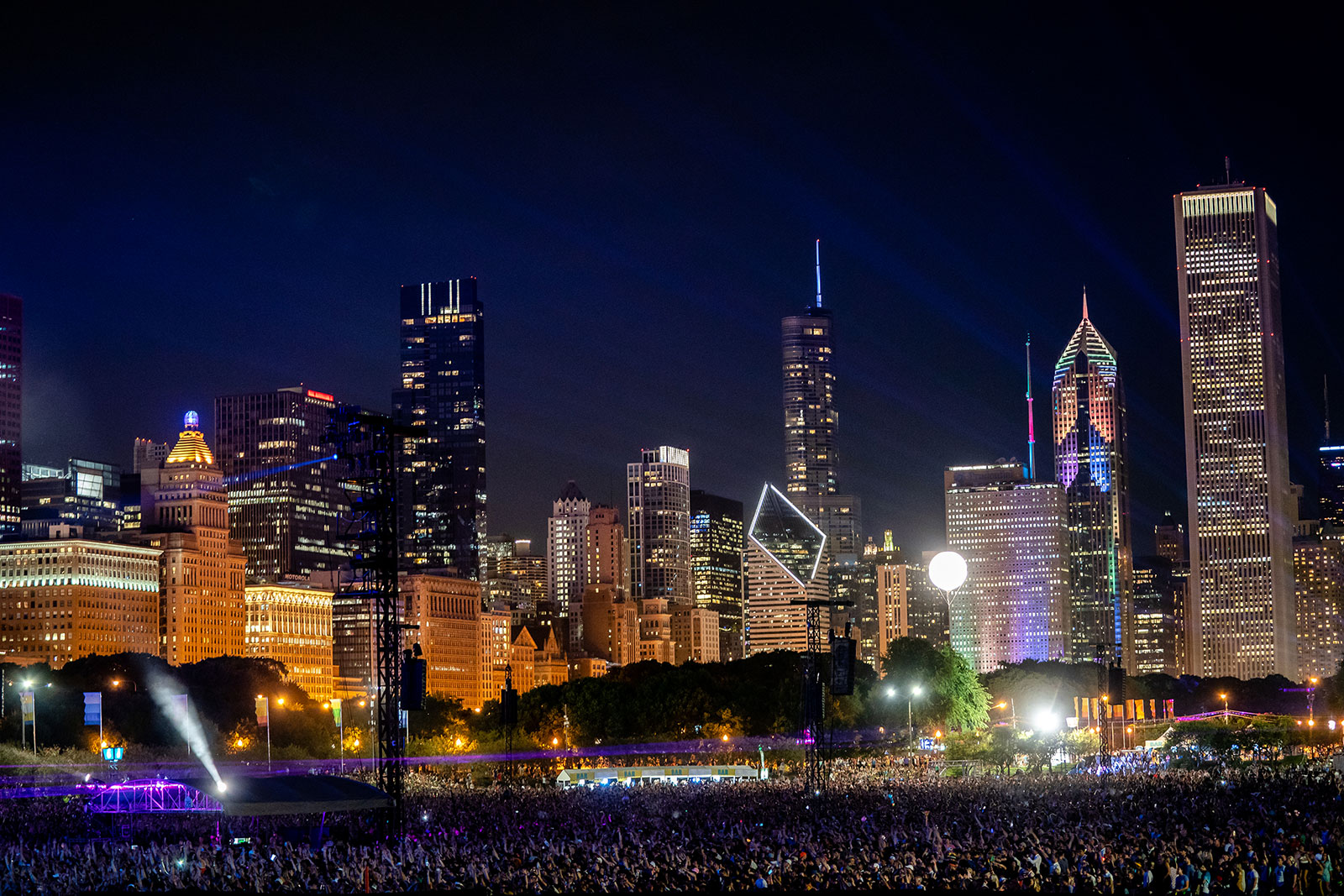 People attend the Lollapalooza music festival in 2019.