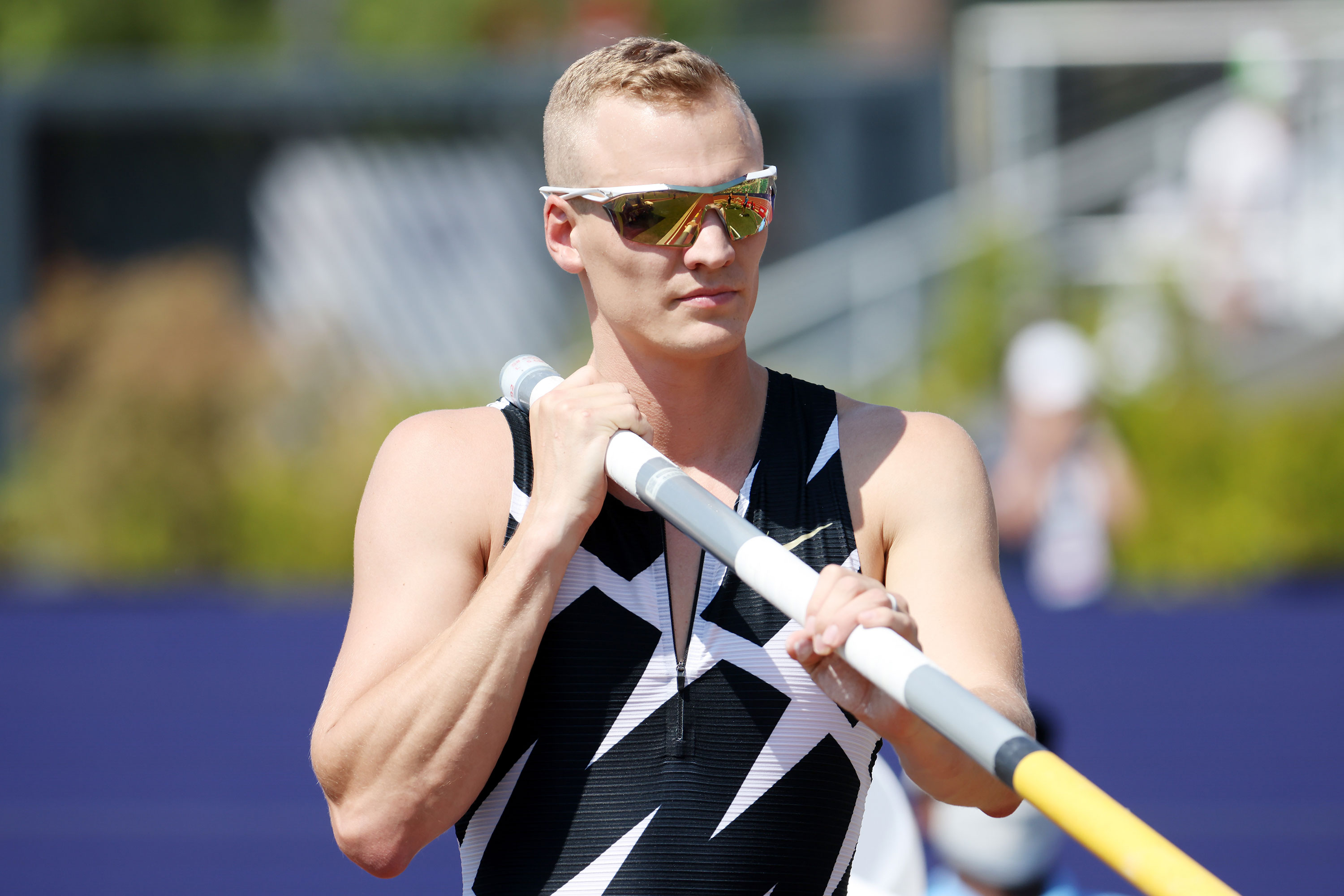 Sam Kendricks is seen during the US Olympic Track and Field Team Trials on June 21 in Eugene, Oregon.
