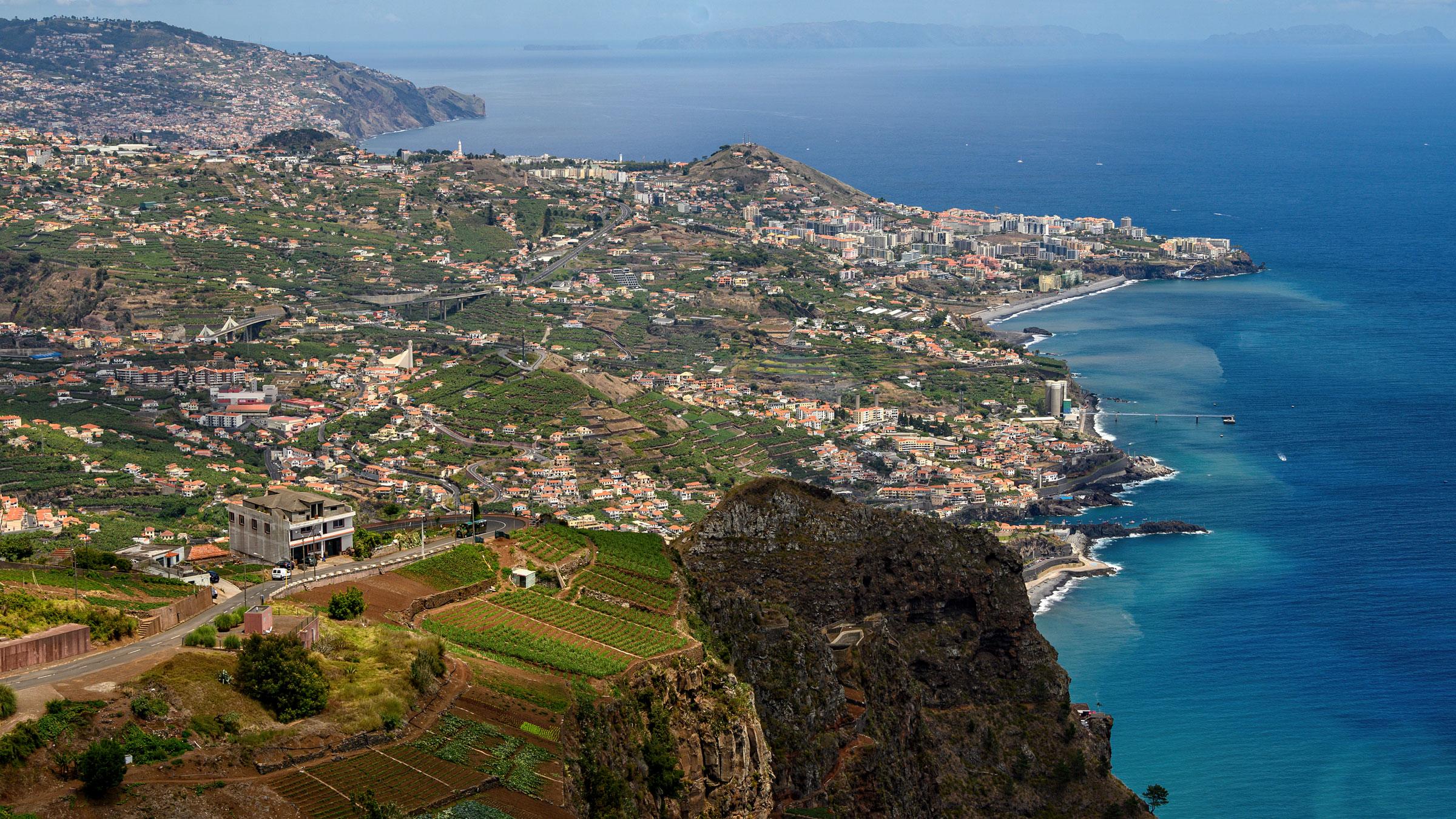 A view of Camara de Lobos, on the southern coast of Portugal's Madeira Island.