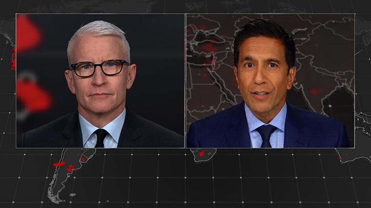 CNN's Anderson Cooper and Dr. Sanjay Gupta.