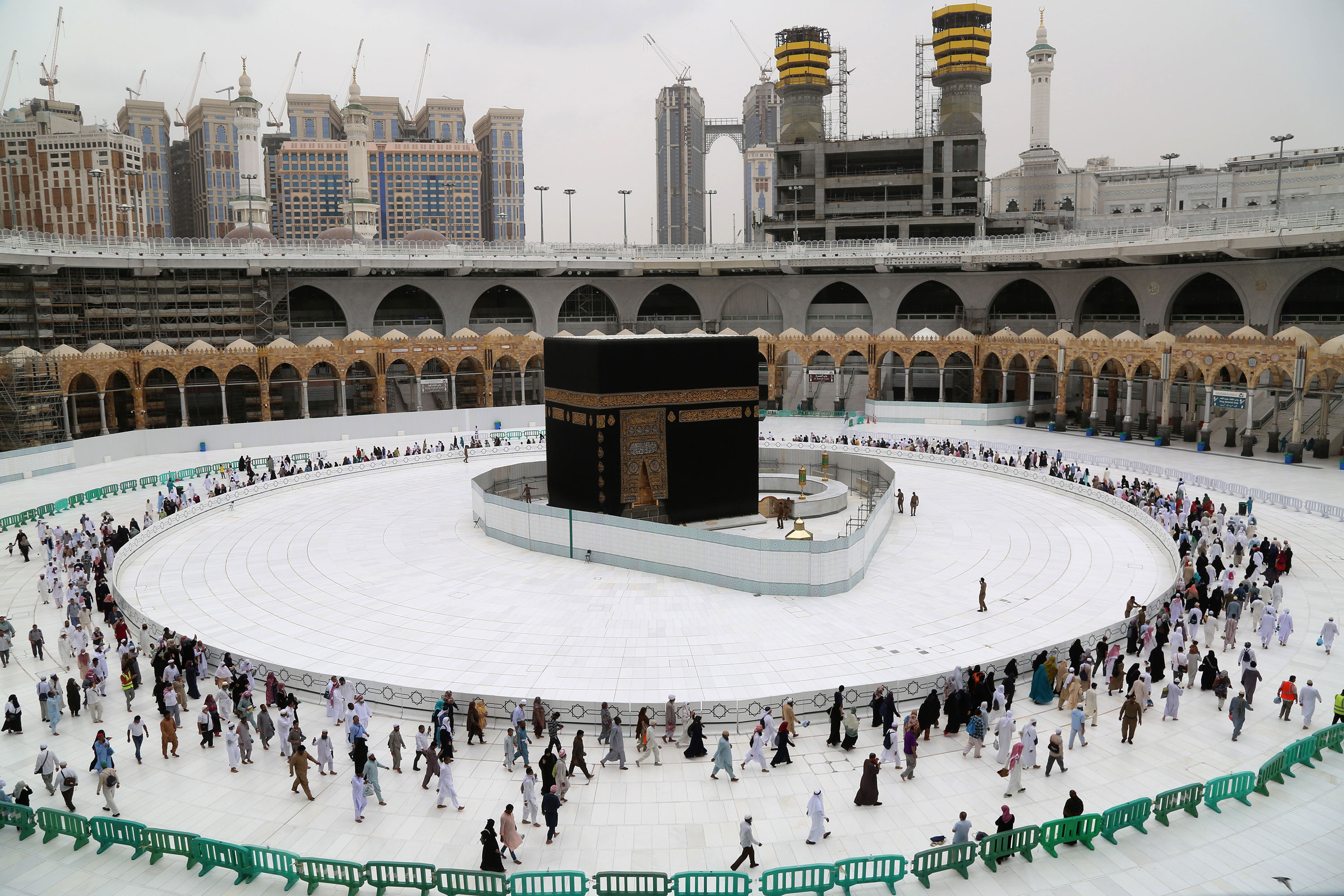 The Kaaba in Mecca's Grand Mosque on March 13.