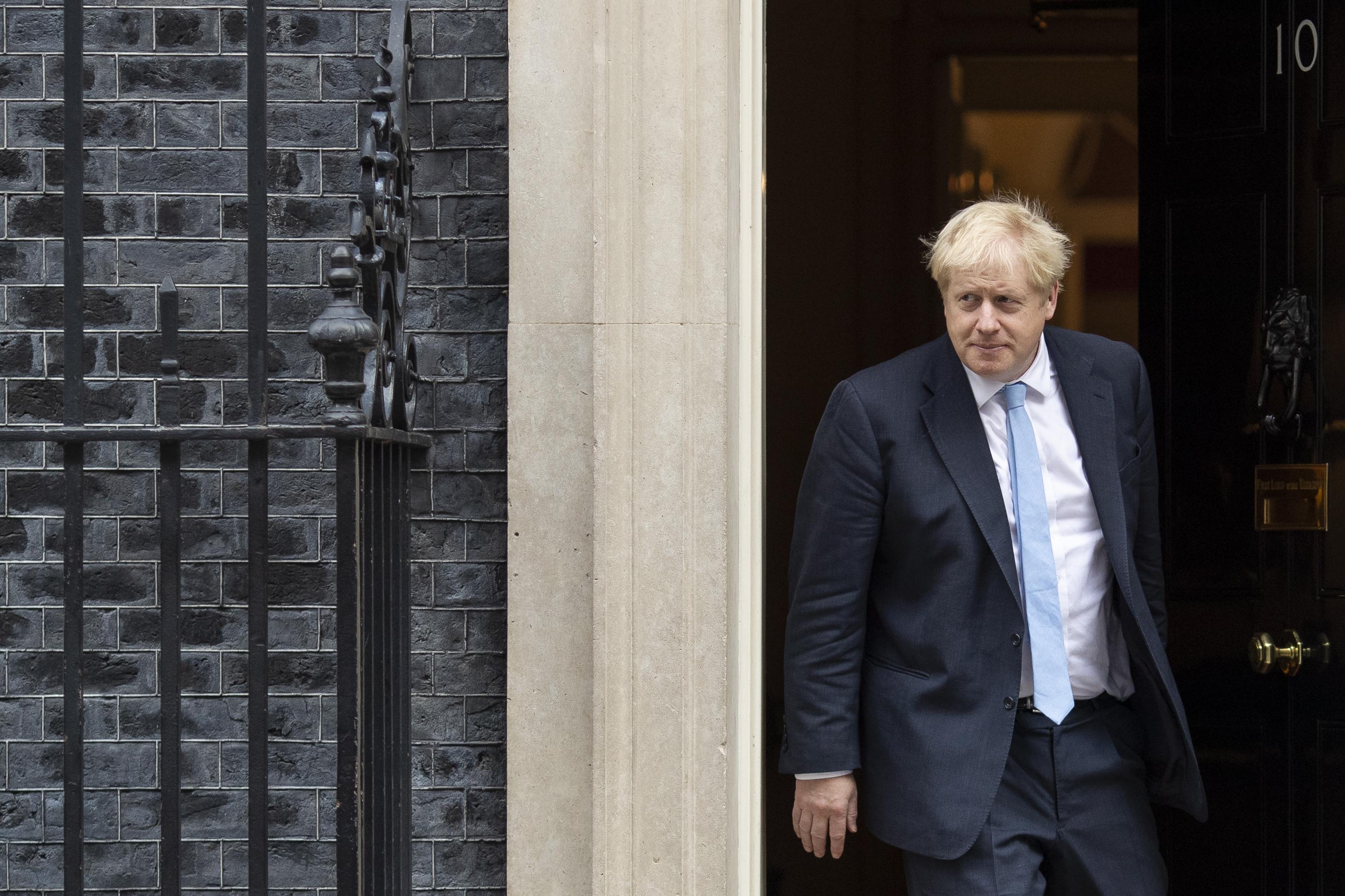UK Prime Minister Boris Johnson at 10 Downing Street on Tuesday.