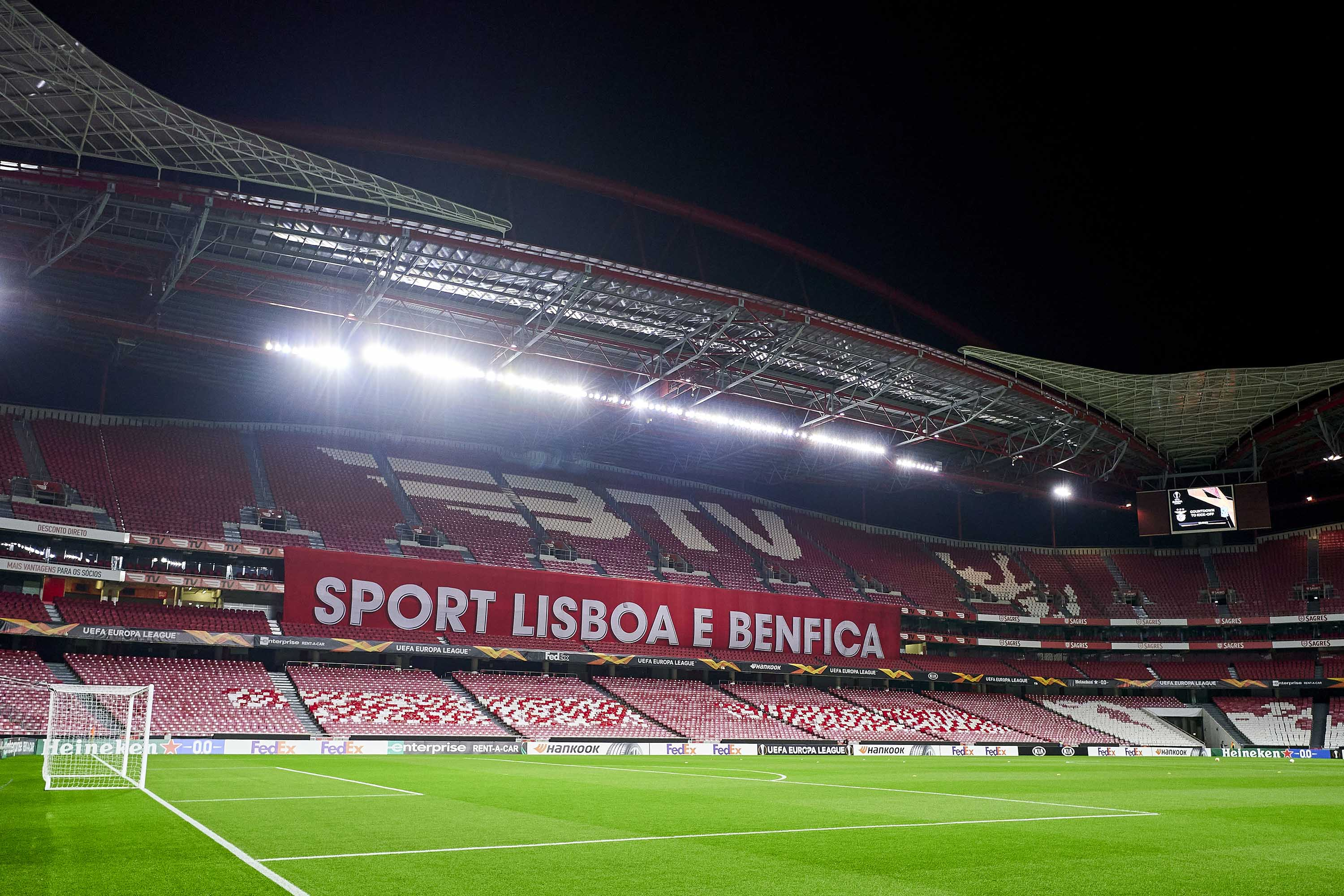 The Estadio da Luz in Lisbon, Portugal, prior to a match between SL Benfica and Lech Poznan in December 2020.