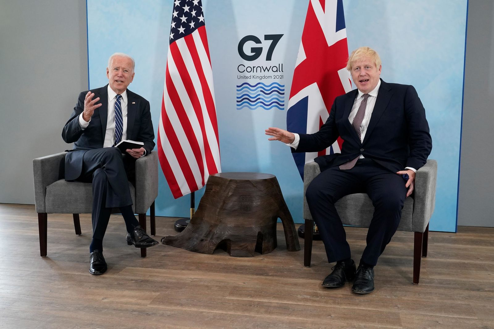 Biden meets with British Prime Minister Boris Johnson on Thursday in Carbis Bay, England, ahead of the G7 summit.