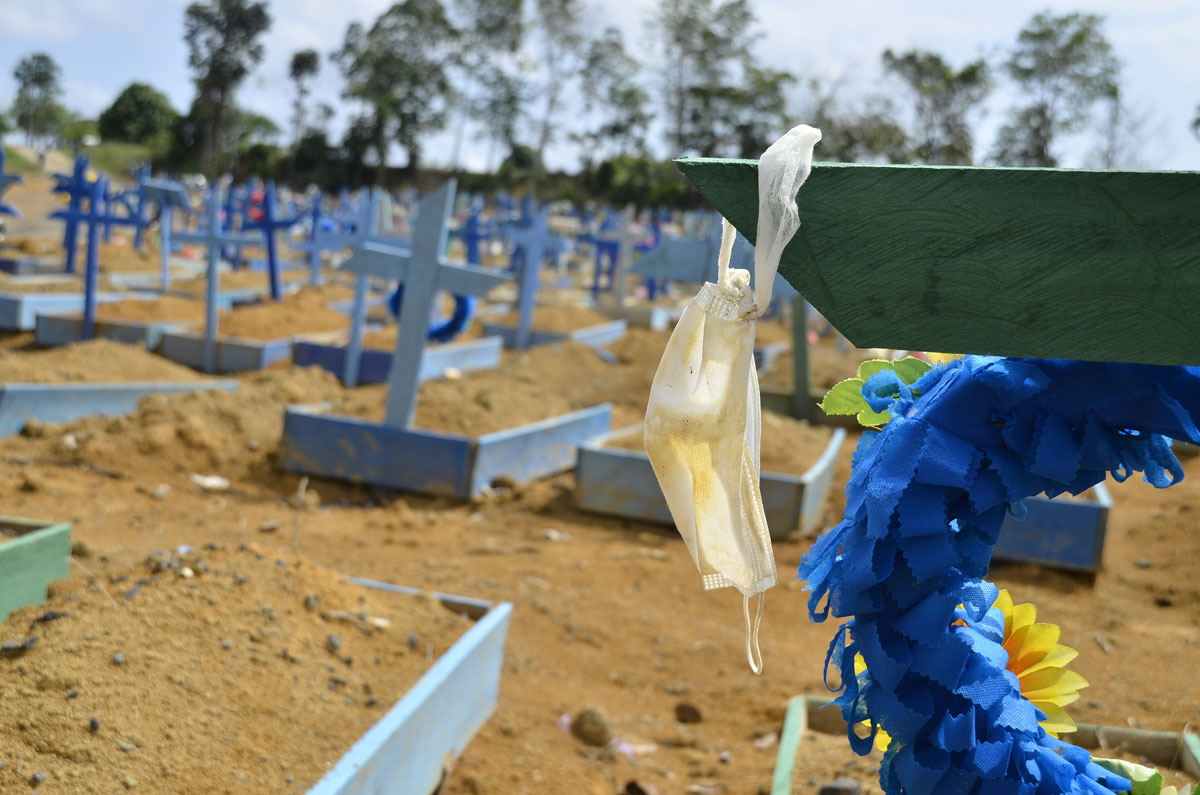 Coronavirus victims buried in Taruman Park Cemetery in Amazonas, Brazil on October 3.